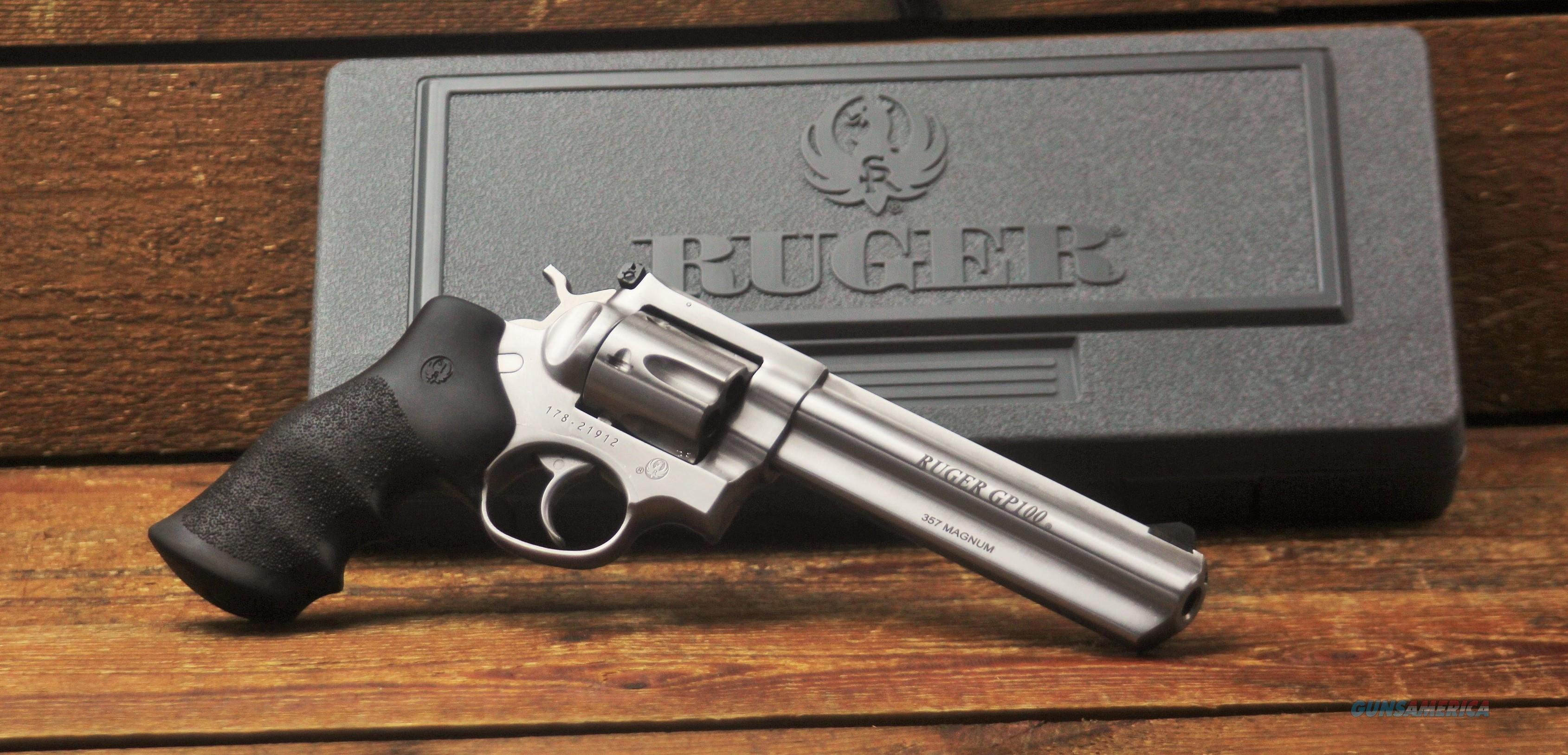 EASY PAY $60 LAYAWAY  Ruger Double-Action Revolver  Heavy full shrouded precision rifled barrel Stainless KGP161 GP100 .357 Remington Magnum precision cowboy 1707 736676017072  Guns > Pistols > Ruger Double Action Revolver > GP100