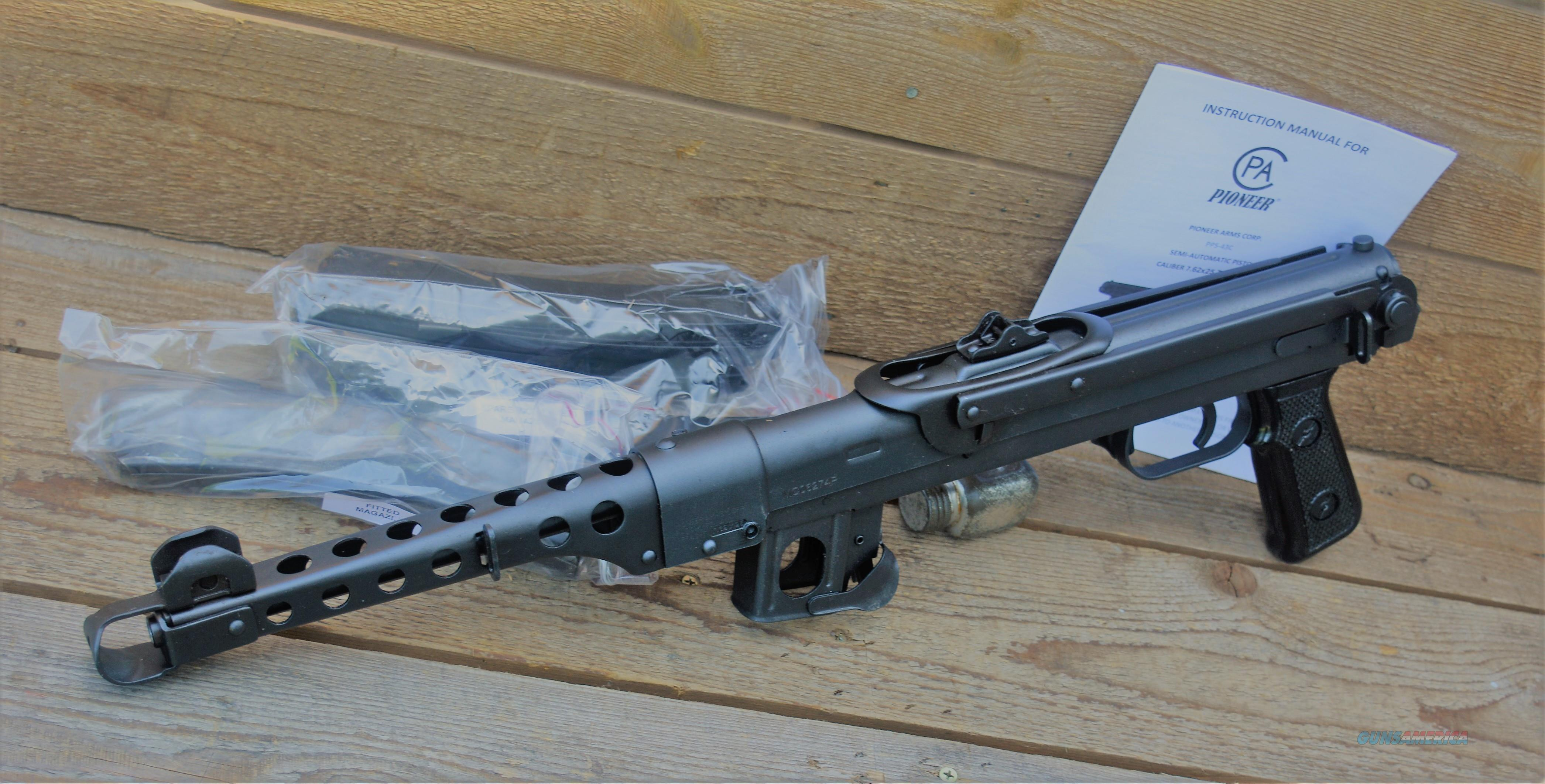 $55 Easy Pay  Polish IMG PPS43-C PPS43 Semi Auto Pistol  7.62x25mm Tokarev 35 Rounds stamped steel receiver muzzle brake fixed stock  Guns > Pistols > Military Misc. Pistols Non-US