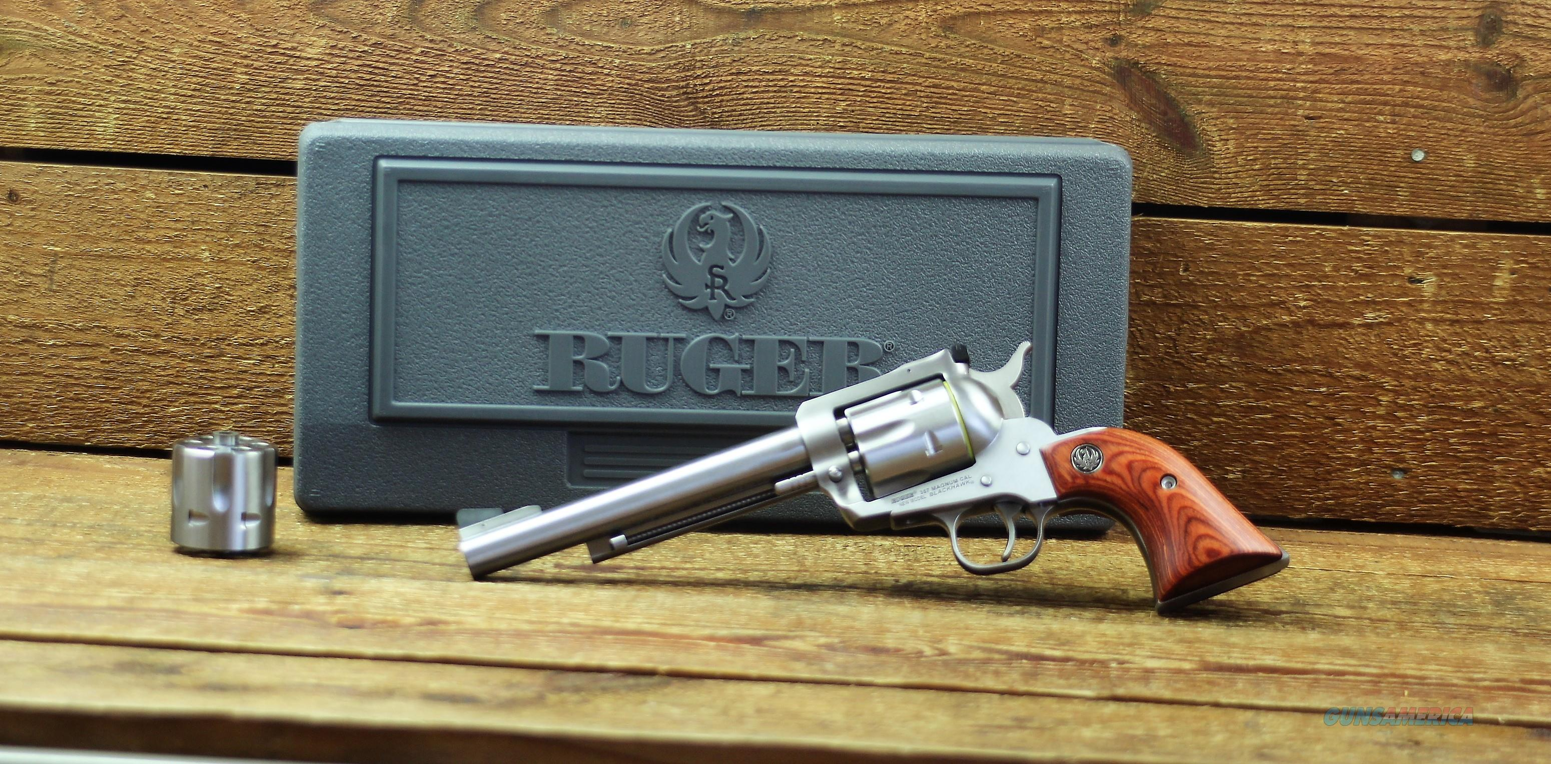"EASY PAY $65 LAYAWAY  RUGER KBN36X 357/9MM 6.5"" SS WSS Revolver EXCLUSIVE 0320 736676003204  Guns > Pistols > Ruger Single Action Revolvers > Blackhawk Type"