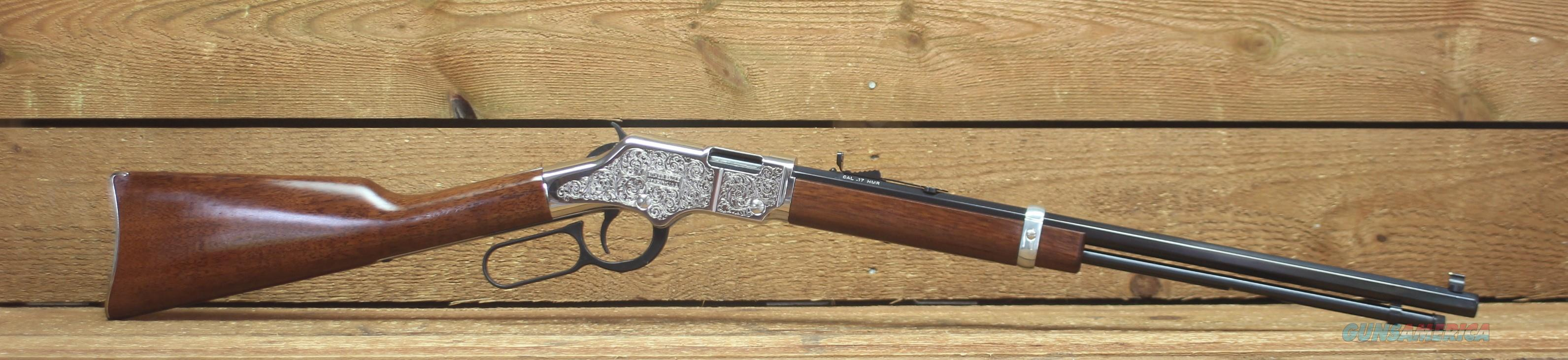 "Henry Silver Eagle Lever Action Rifle .17 HMR 20"" Octagonal Barrel 12 Rounds Nickel Engraved Receiver Walnut  H004SEV  EASY PAY  $67  Guns > Rifles > Henry Rifle Company"