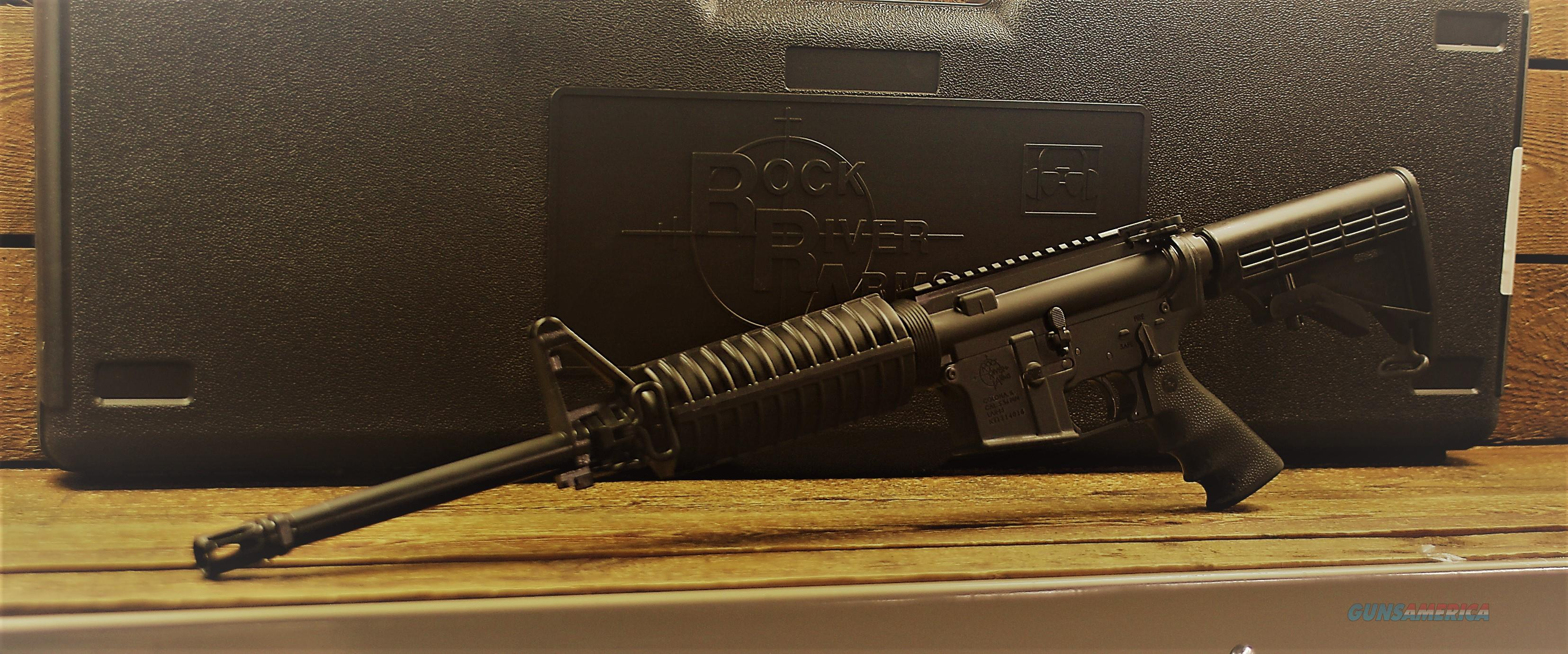 "EASY PAY $95 lAYAWAY  Rock River Arms LAR-15 Tactical Car A4 Tactical Carry Handle AR-15 Semi Auto Rifle .223 Rem/5.56mm NATO 16"" Chrome Lined Barrel Flip Front Sight Polymer Carbine Length Handguard Collapsible Stock Black AR1207  Guns > Rifles > Rock River Arms Rifles"