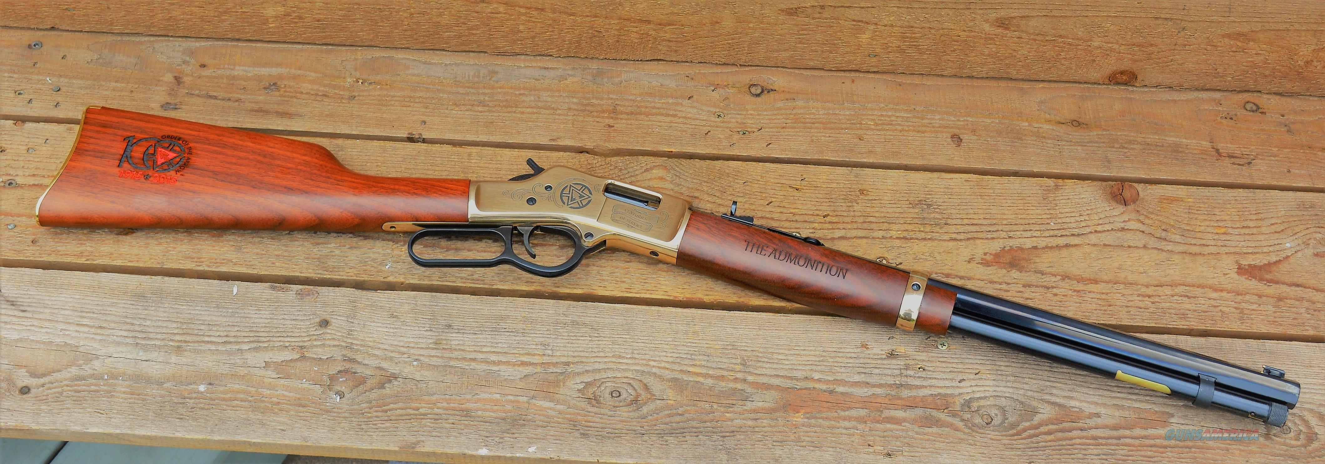 (Easy PAY Sale )   2nd Amendment used in thought in the year 1789 versus Martial law used in the war of 1812 Henry .44  magnum accepts .44 Special  Use  ammo for revolver pistol and carbine Rd brass receiver engraved & Walnut Wood  H006OA  Guns > Rifles > Henry Rifles - Replica