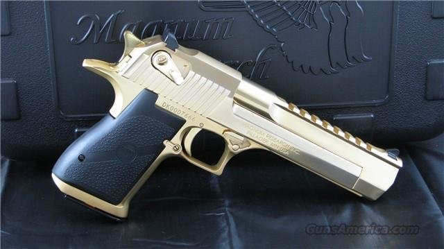 "Magnum Research 24K Gold ""Consecutively"" Numbered Desert Eagle Mark XIX ""EASY PAY $587 "" DE44 DE44GO  Guns > Pistols > Magnum Research Pistols"