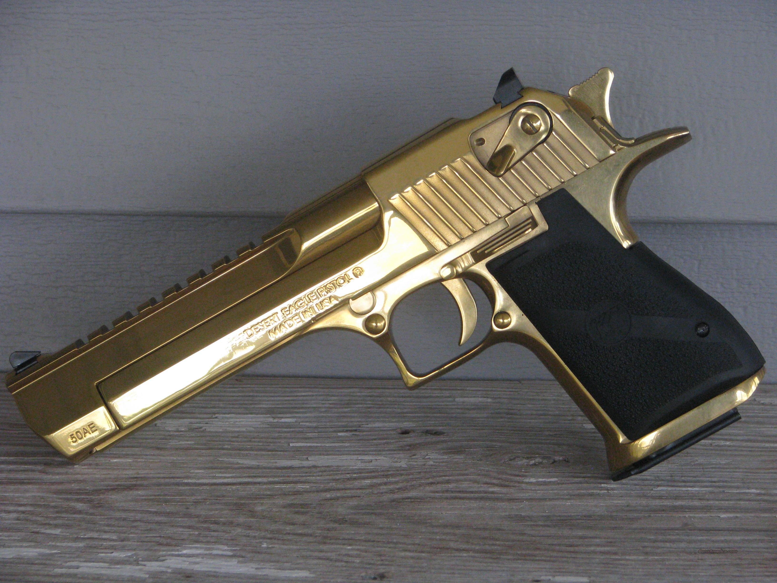 "Magnum Research Desert Eagle 50AE Titanium Gold DE50TG ""EASY PAY $167 MONTHLY""  Guns > Pistols > Magnum Research Pistols"
