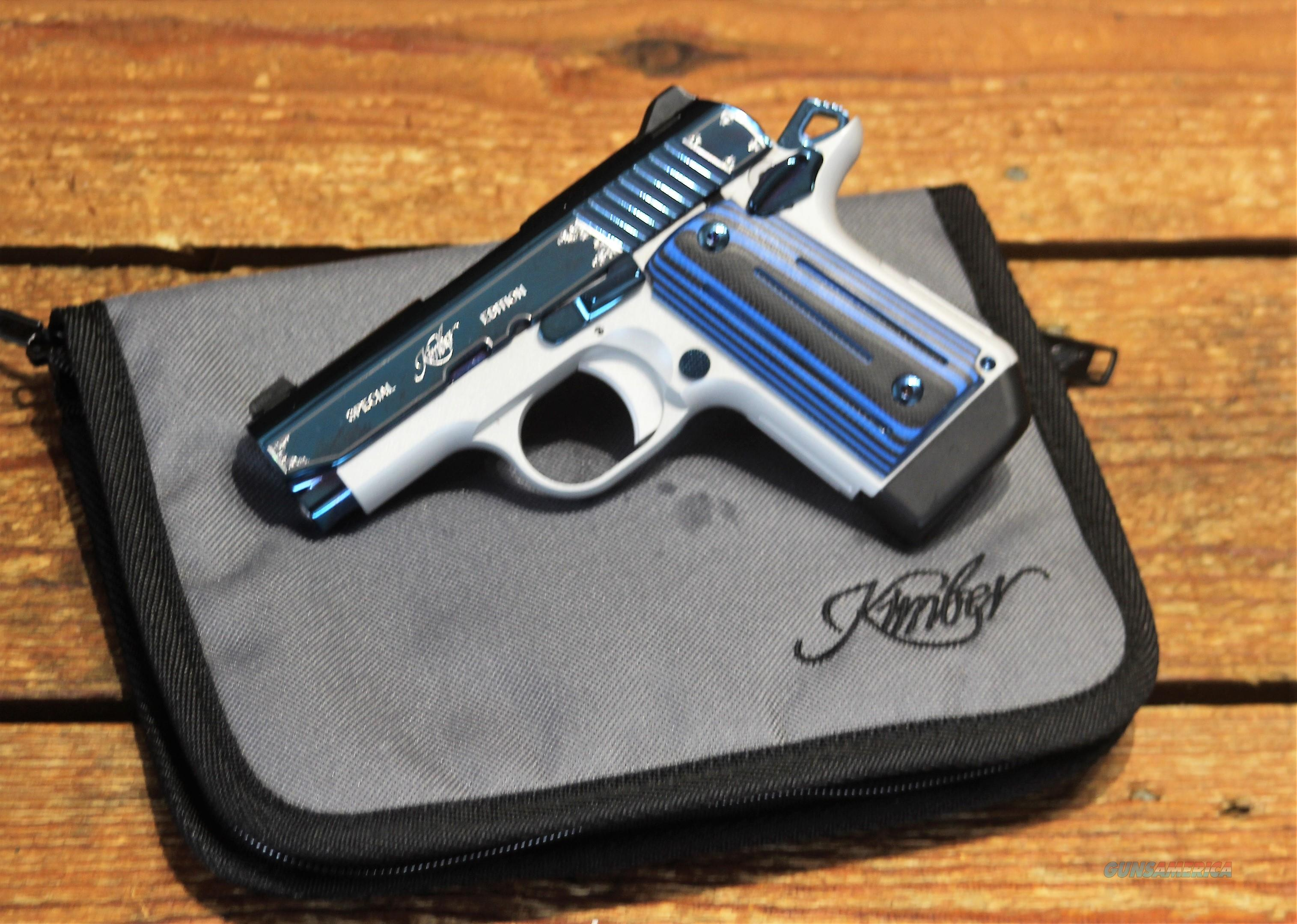 "EASY PAY $89 LAYAWAY  Kimber Micro 9 Sapphire Pistol KIM3300111   PVD finish 9MM, 3.15"", Sapphire/Black Grips, Sapphire Slide, 6 Rd  Guns > Pistols > Kimber of America Pistols > Micro 9"