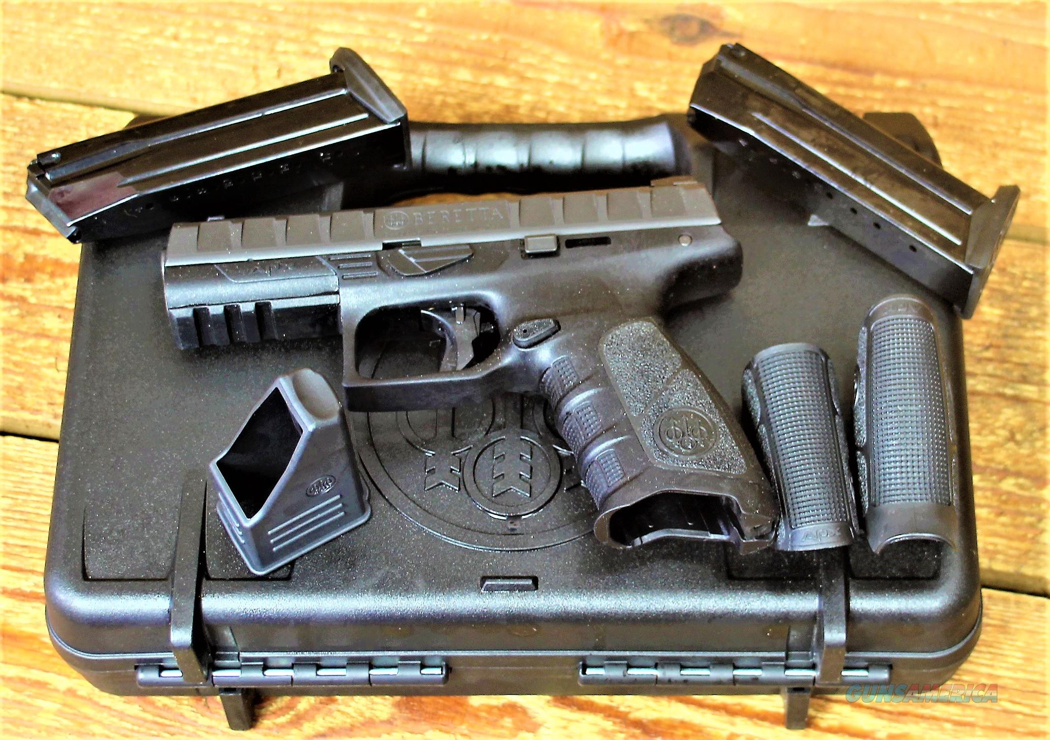 """1. EASY PAY $46 DOWN LAYAWAY Beretta Model APX Conceal & Carry picatinny Rail AD Accessory Full size   17 SHOT 9mm 4.25"""" Barrel Unloaded WEIGHT  26.8 OZ 17 Rounds Black Polymer Frame slide stop JAXF921  Guns > Pistols > Beretta Pistols > Polymer Frame"""