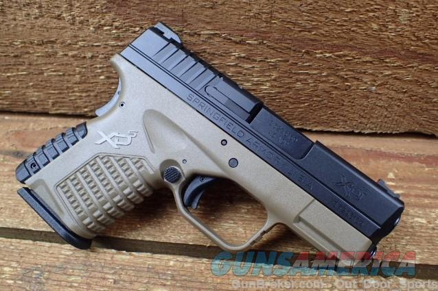 "EASY PAY $50 Layaway Springfield XDS  XD Semi Auto Pistol .45 ACP 3.3"" Barrel 6 Rounds Polymer Two Tone FDE/Black XDS93345DEE 706397901646  Guns > Pistols > Springfield Armory Pistols > XD-S"