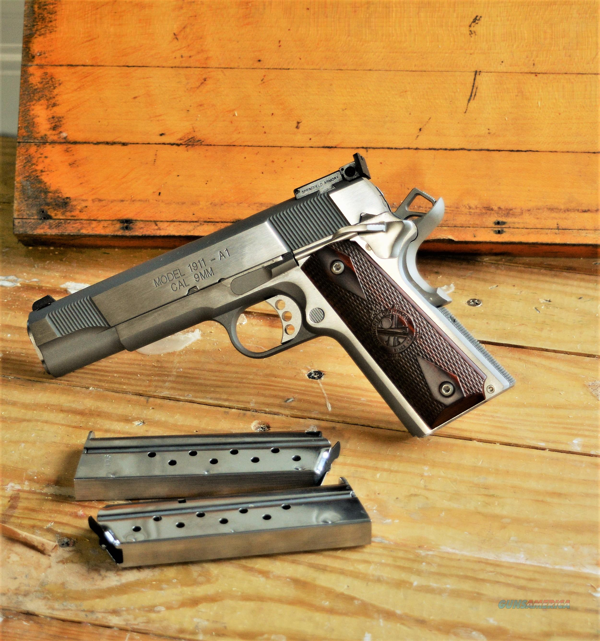 "$77  Sale Easy PAY CA SAFE Conceal and Carry  California  Approved  Springfield Armory 1911-A1  Match Grade Barrel 5"" TARGET model forged stainless steel 1911 Loaded Ambidextrous thumb 1911A1 beavertail grip safety lightweight PI9134LCA  Guns > Pistols > Springfield Armory Pistols > 1911 Type"