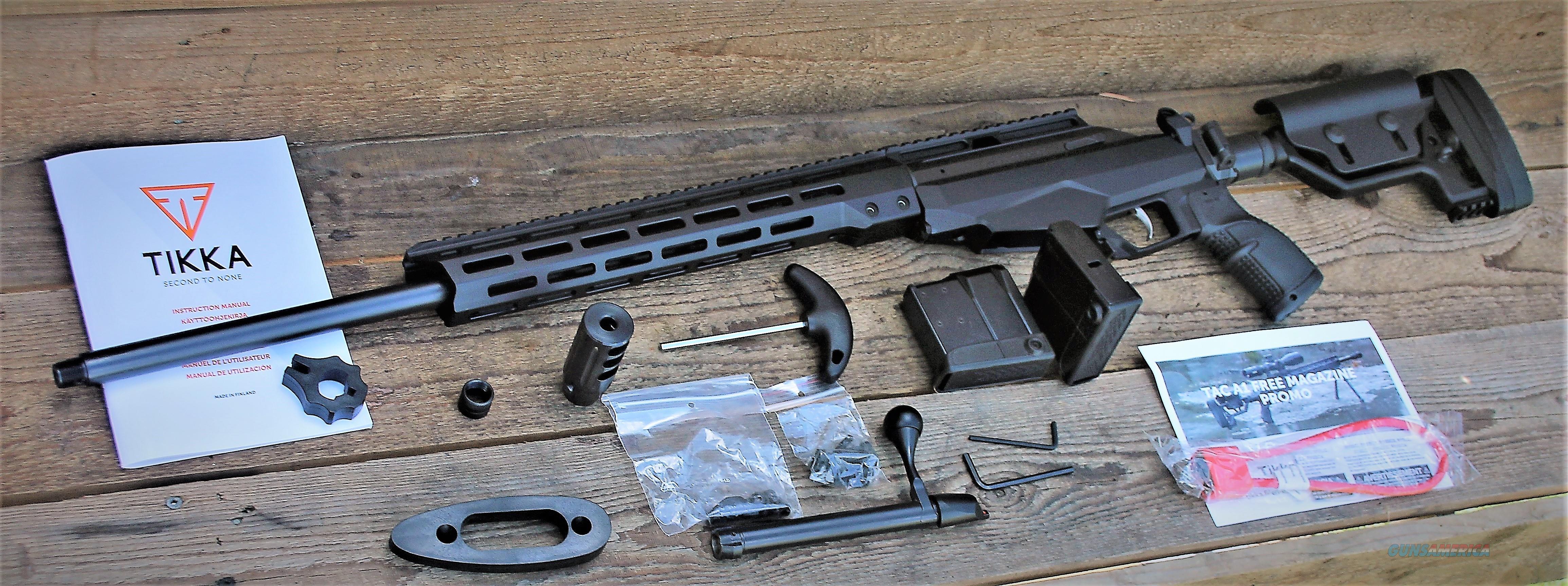 """1 EASY PAY $159 Beretta Group SAKO Tikka T3 6.5 Creed 24"""" Threaded barrel 1:8"""" twist T3X Picatinny scope rail chassis stock M-LOK attachment black anodized finish JRTAC382L  Guns > Rifles > Tikka Rifles > T3"""