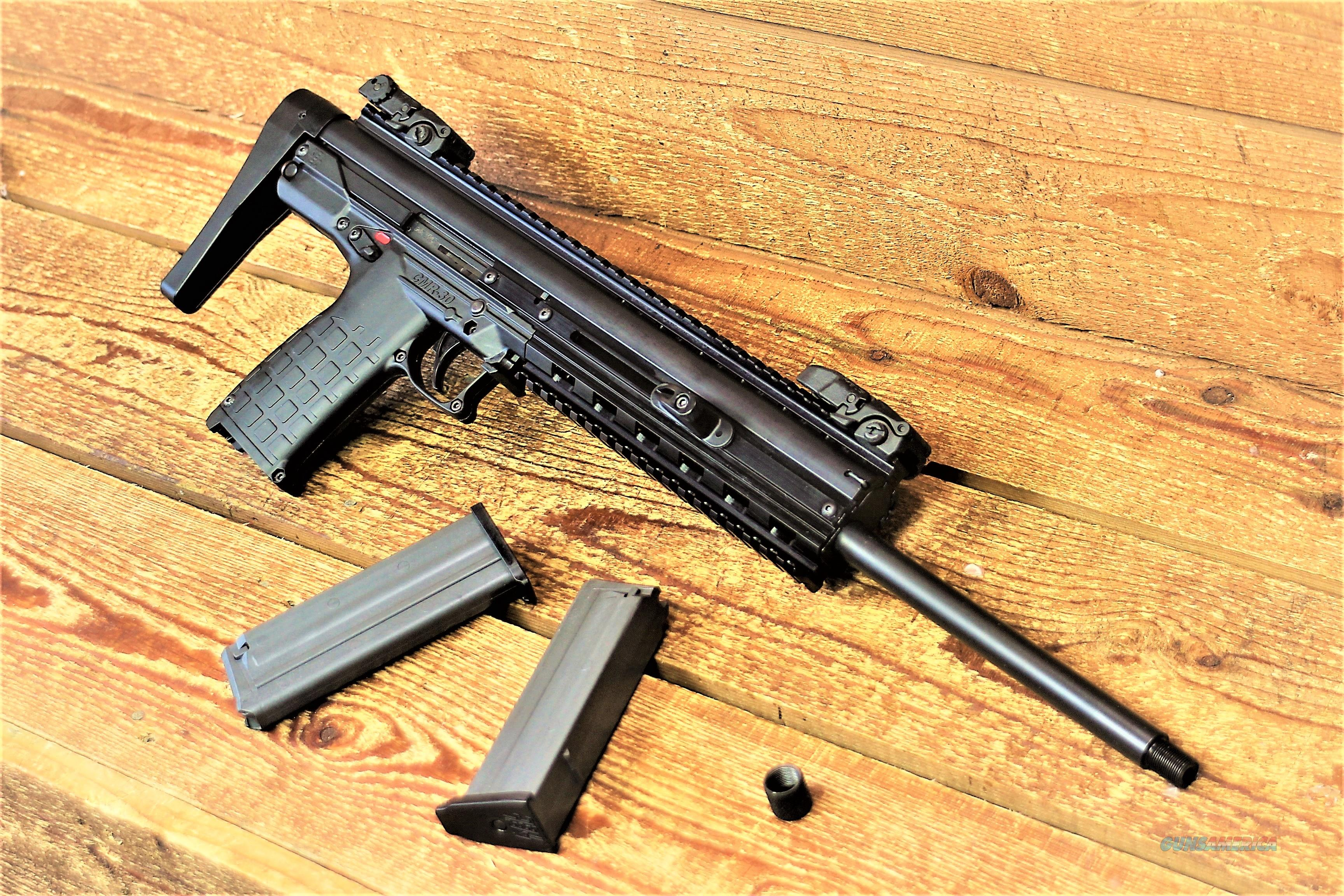 """EASY PAY $38 DOWN LAYAWAY 18 MONTHLY  PAYMENTS Kel-Tec CMR-30 Carbine Rimfire Higher velocity Around 2,000 feet per Second 22WMR Can kill Larger and Small game 16 in steel Threaded Barrel  RATE OF TWIST 1:14"""" ADJUSTABLE SIGHTS   CMR30BLK  Guns > Rifles > Kel-Tec Rifles"""