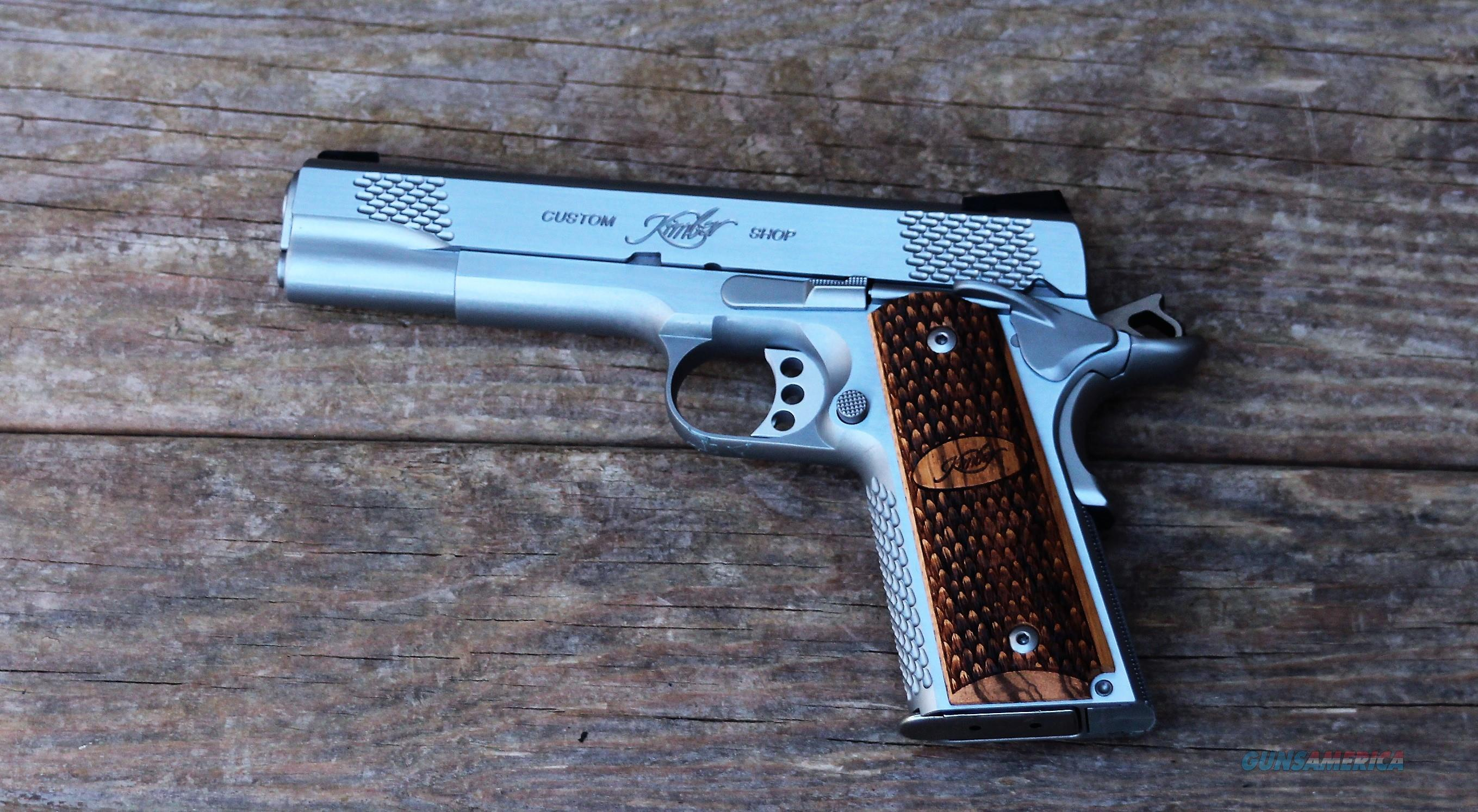 $115 Easy Pay  Kimber Custom With A Hard Case Founding Fathers July 4 1776 2nd Amendment Use ONLY Custom 1911 .45 ACP Raptor II Stainless match grade Barrel 5 in 8 Rd Magazine Tritium 3200181  Guns > Pistols > Kimber of America Pistols > 1911