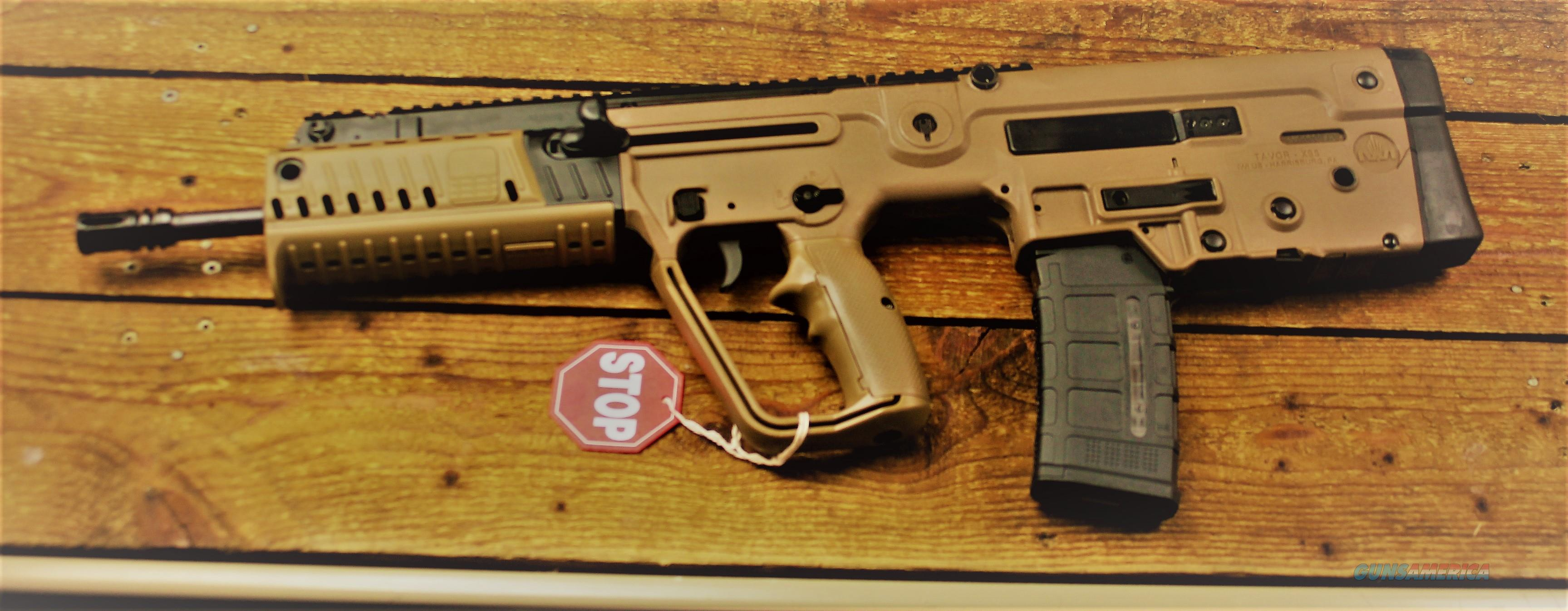 EASY PAY $158 DOWN LAYAWAY 12 MONTHLY PAYMENTS IWI  XFD16 Tavor Close Quarter Design TACTICAL  X95 CENTERFIRE TAC Next Generation bullpup Folding Tritium SIGHTS 223 Remington 5.56 NATO Polymer FDE POLY Flat Dark Earth STOCK Synthetic   Guns > Rifles > IWI Rifles