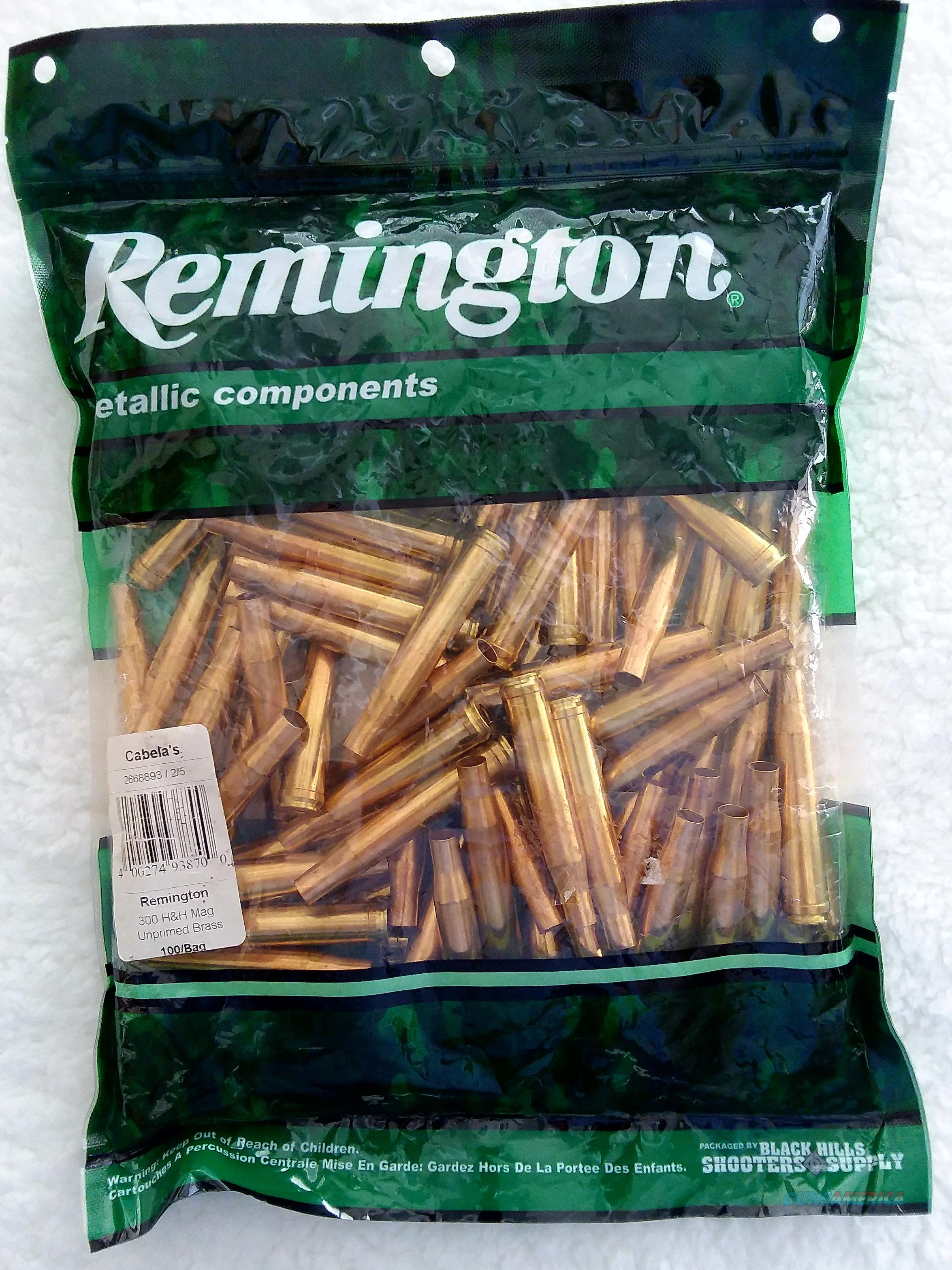 300 H&H MAGNUM, (NEW) UNPRIMED REMINGTON BRASS   Non-Guns > Reloading > Components > Brass