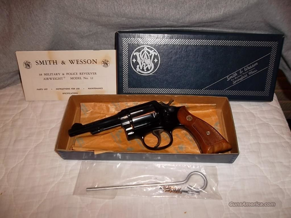 SMITH & WESSON MODEL 12-2 AIRWEIGHT NIB  Guns > Pistols > Smith & Wesson Revolvers > Model 10