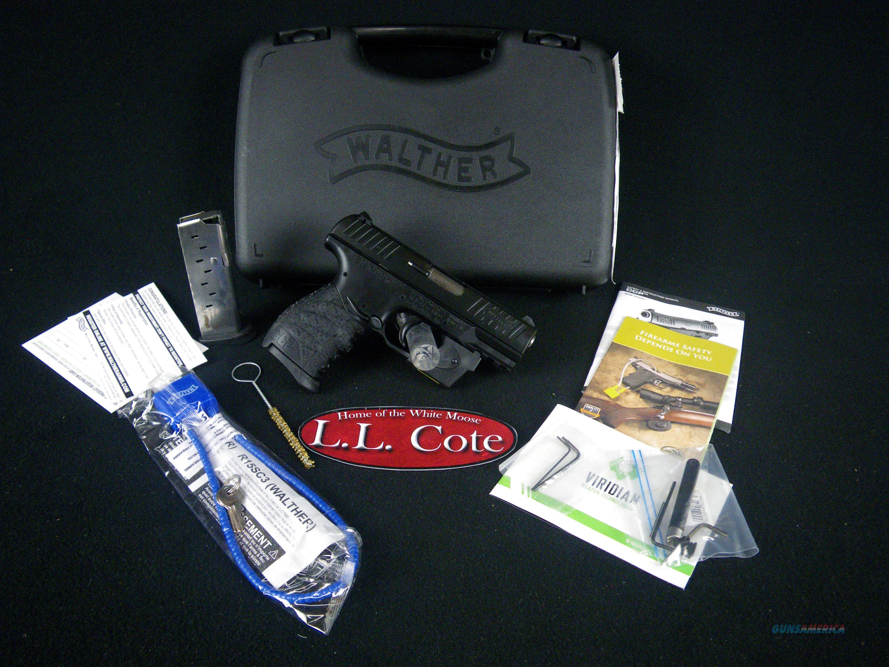 "Walther CCP 9mm Viridian Red Laser 3.54"" NEW 5080300VRL  Guns > Pistols > Walther Pistols > Post WWII > CCP"