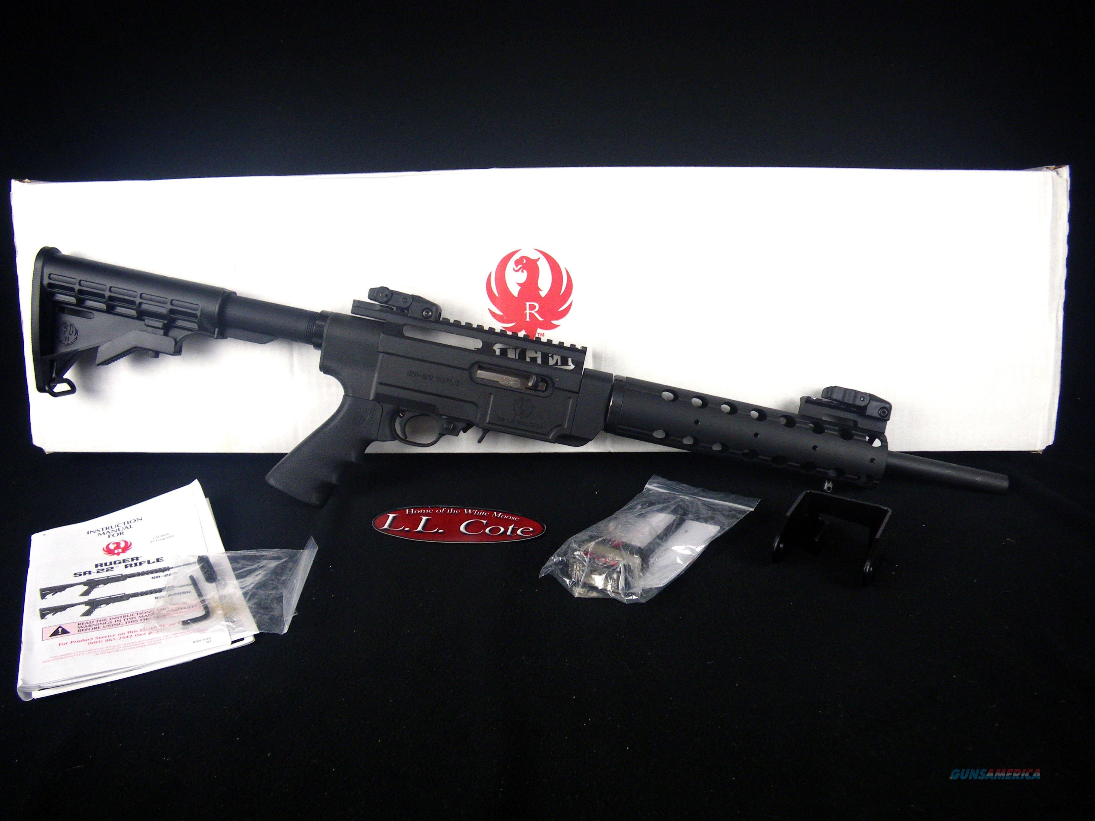 "Ruger SR-22RSC 22lr 16.12"" NEW Black/Syn 1236  Guns > Rifles > Ruger Rifles > SR Series"