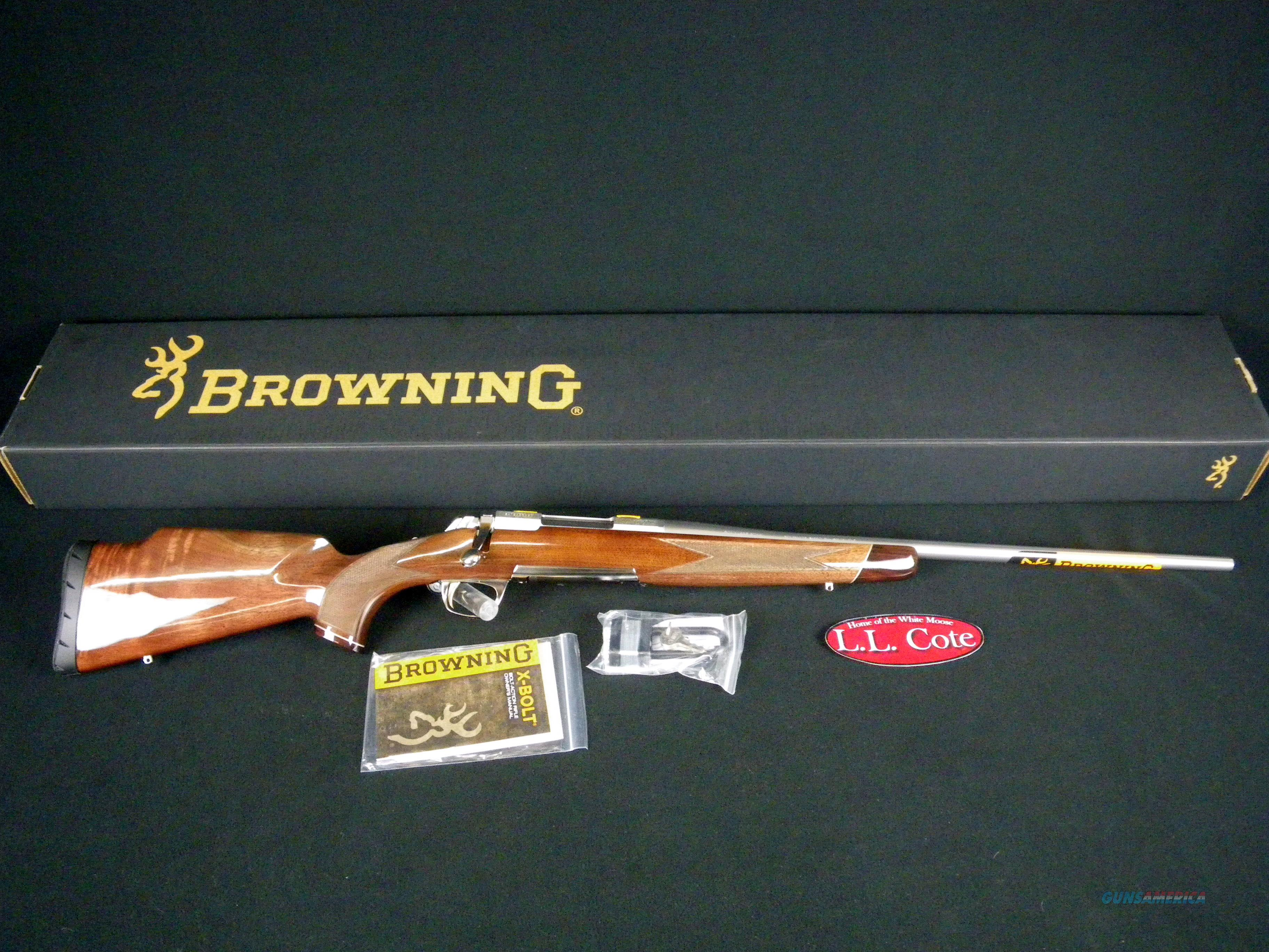 "Browning X-Bolt White Gold Medallion 300 WSM 23"" #035235246  Guns > Rifles > Browning Rifles > Bolt Action > Hunting > Stainless"