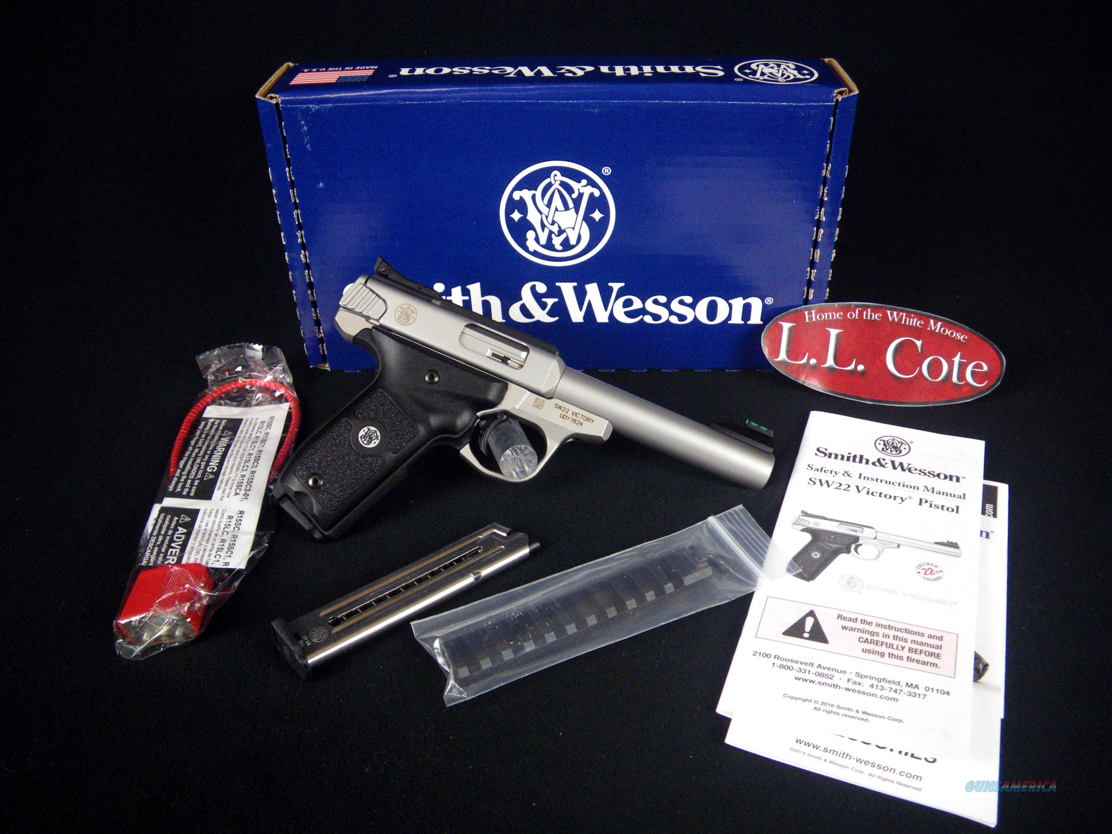 """Smith & Wesson SW22 Victory 22LR 5.5"""" NEW 108490  Guns > Pistols > Smith & Wesson Revolvers > Full Frame Revolver"""