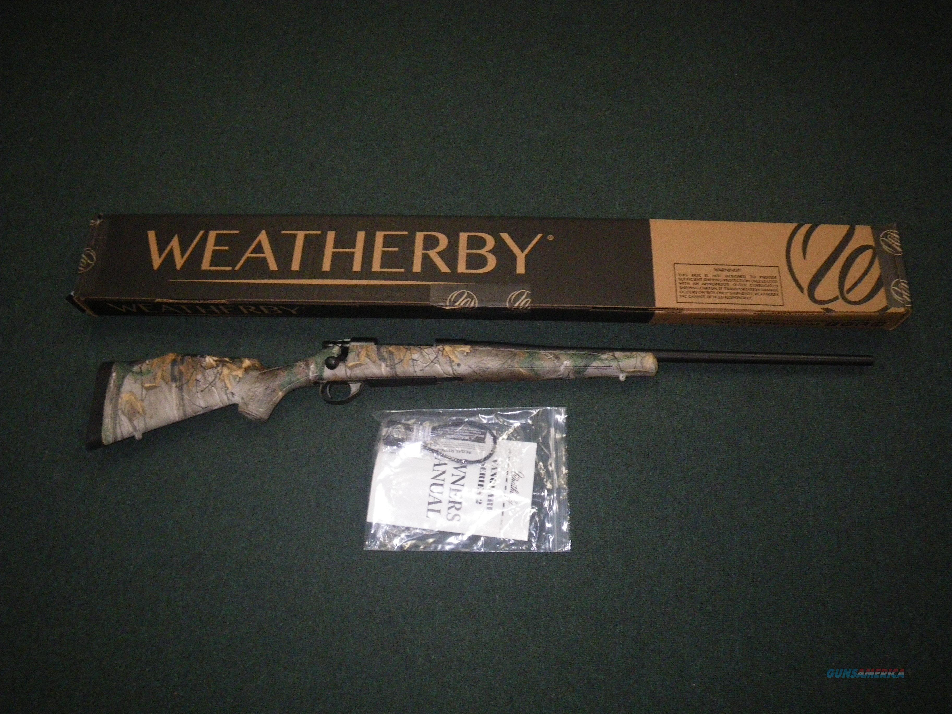 """Weatherby Vanguard Realtree Xtra 308 Win 24"""" NEW VXT308NR4O  Guns > Rifles > Weatherby Rifles > Sporting"""