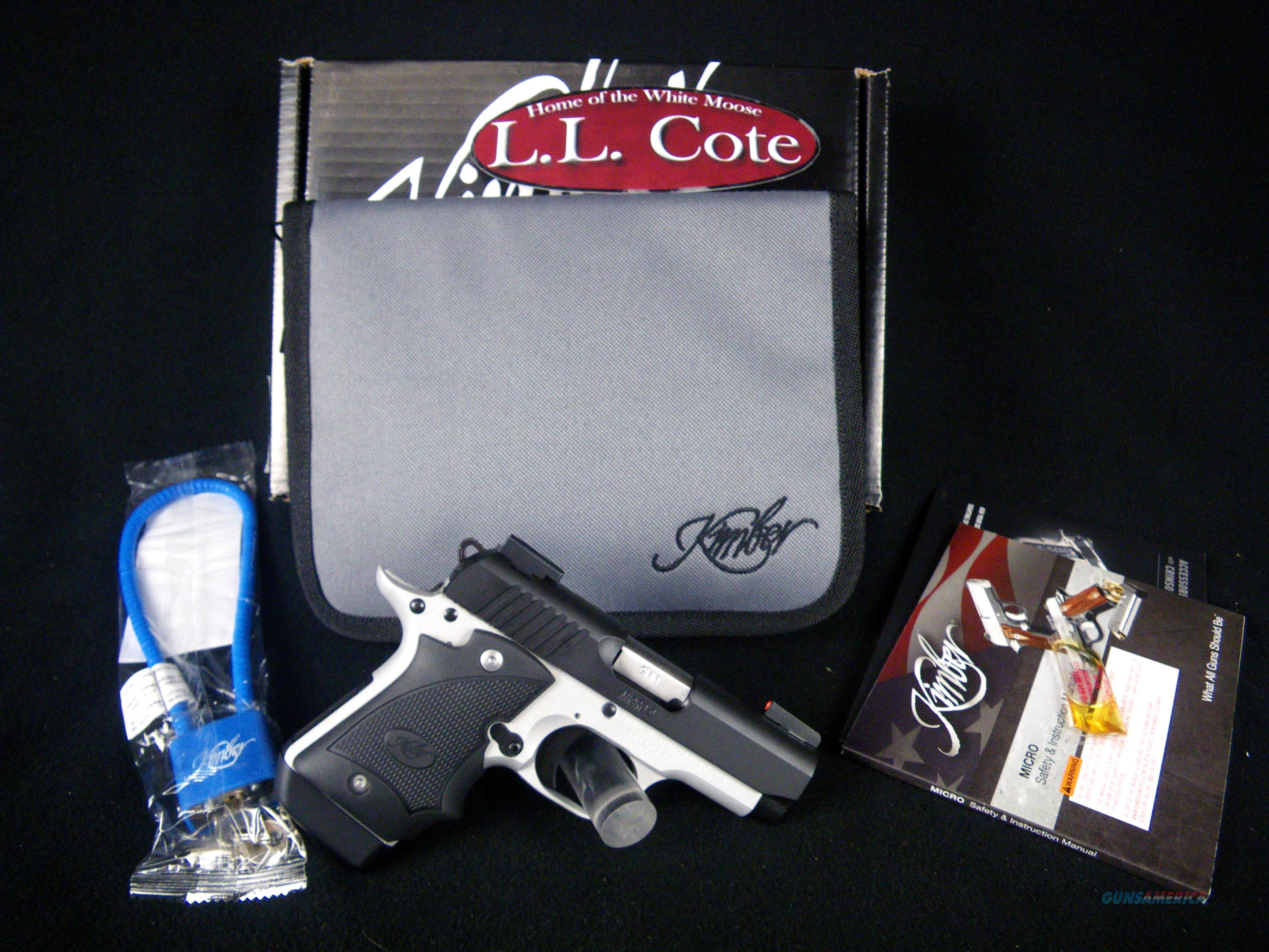 "Kimber Micro 9 Two-Tone DN 9mm 3.15"" NEW #3300195  Guns > Pistols > Kimber of America Pistols > Micro 9"