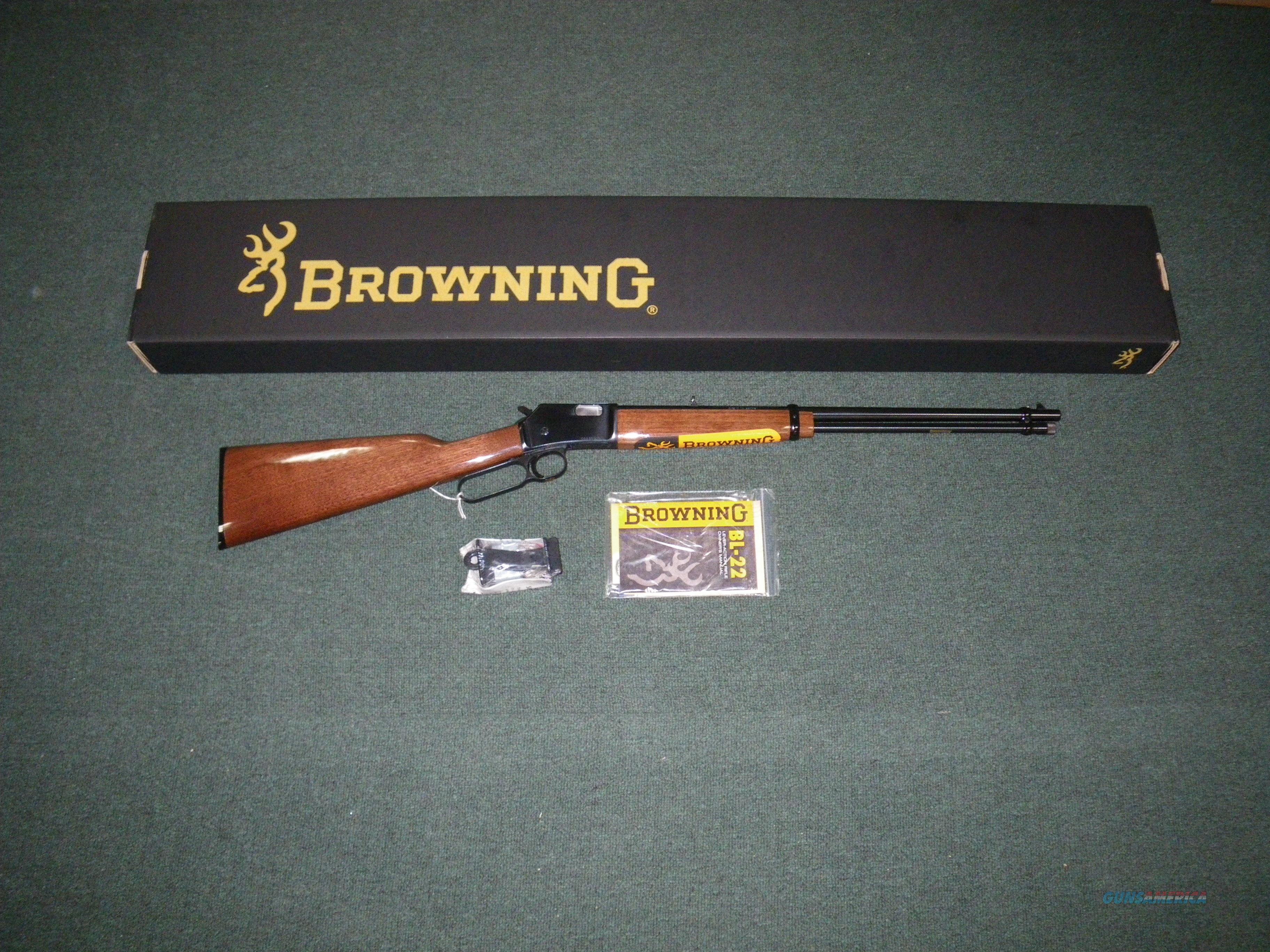 """Browning BL-22 Grade I Lever Action 22lr 20"""" NIB Item #024100103  Guns > Rifles > Browning Rifles > Lever Action"""