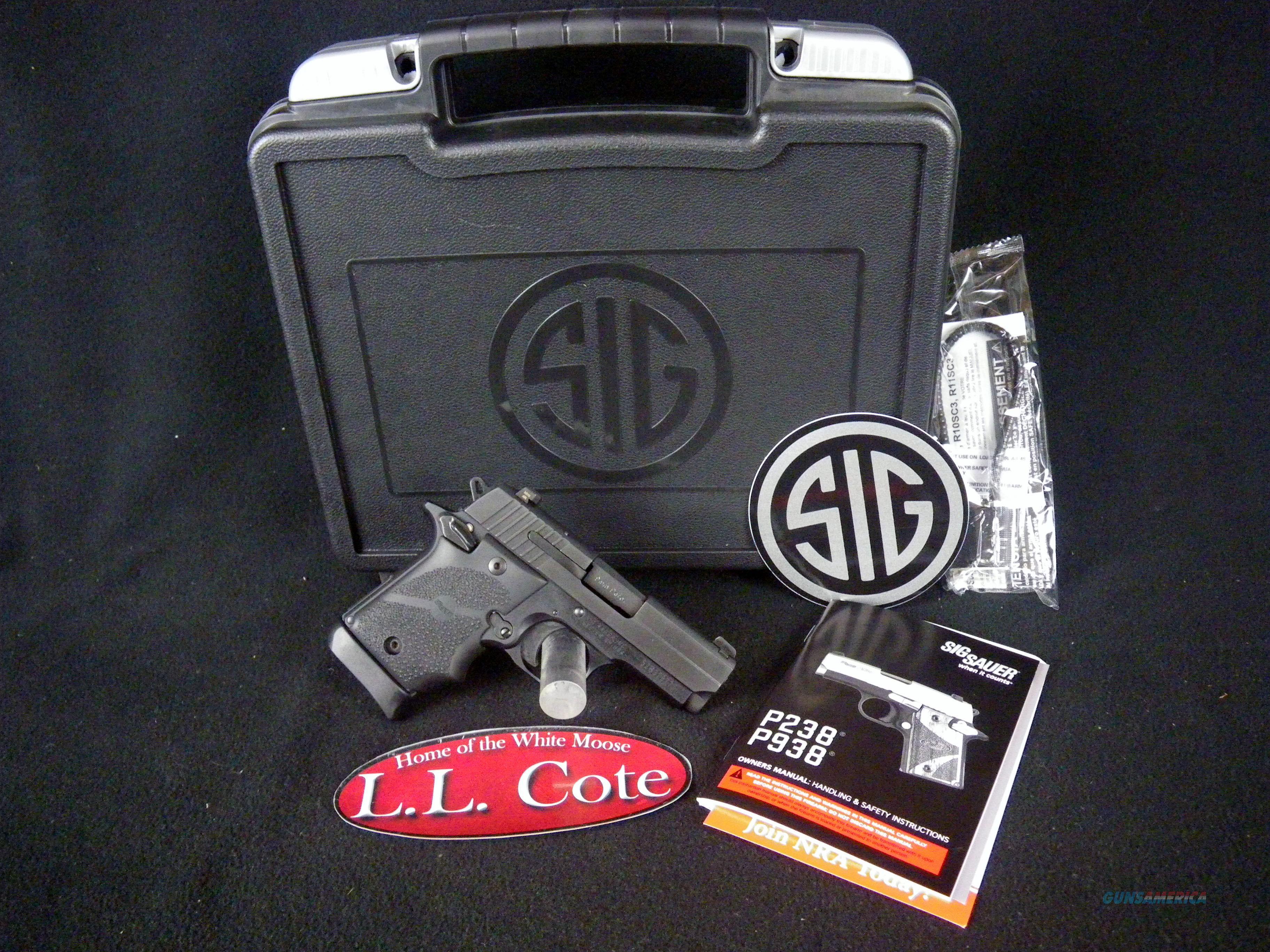"Sig Sauer P938 BRG Micro-Compact Black 9mm 3"" NEW 938-9-BRG-AMBI  Guns > Pistols > Sig - Sauer/Sigarms Pistols > P320"