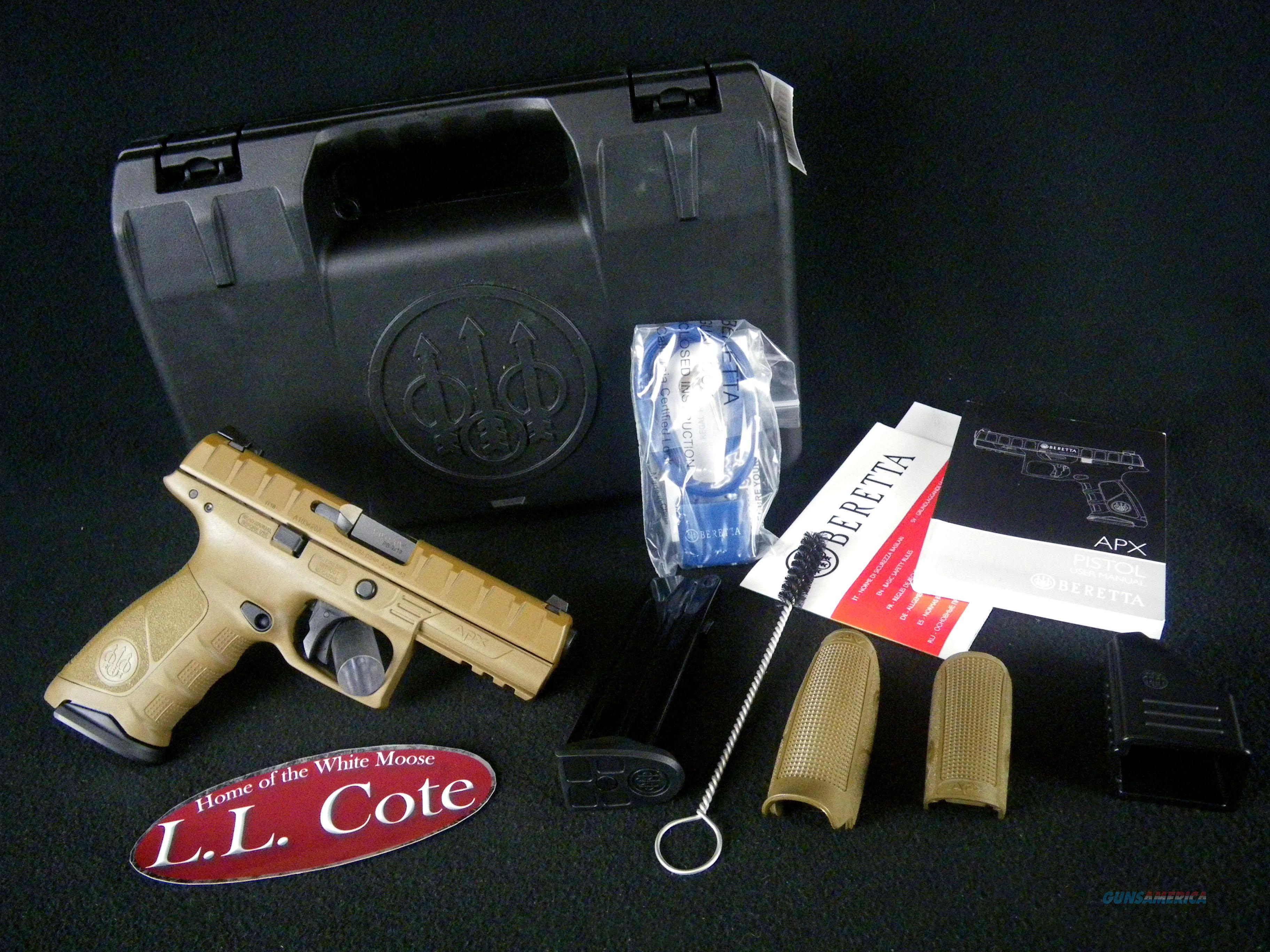 """Beretta APX FDE 9mm 4.9"""" NEW JAXF92105  Guns > Pistols > Beretta Pistols > Polymer Frame"""