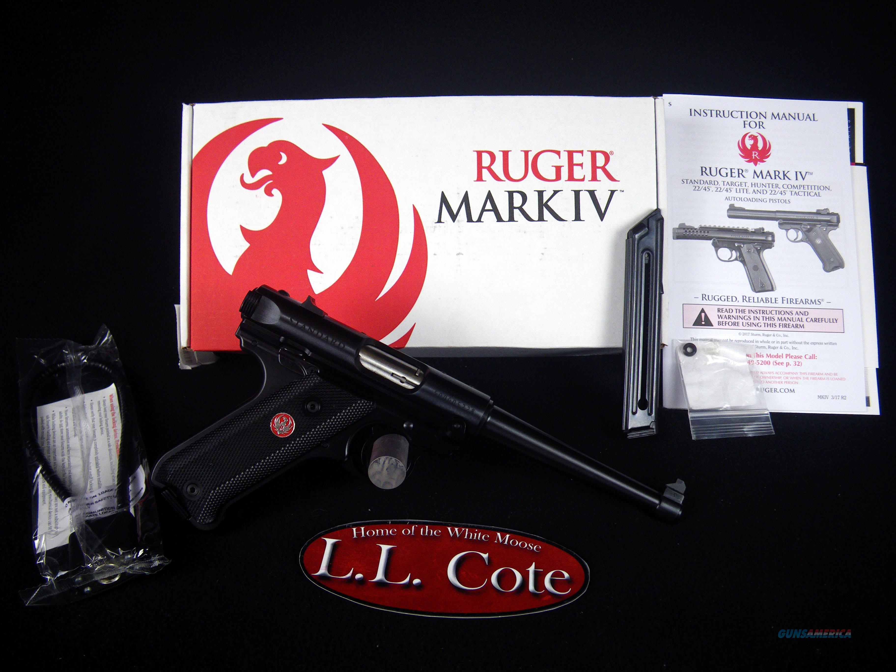 "Ruger Mark IV Standard 22lr 6"" Blued NEW 40105  Guns > Pistols > Ruger Semi-Auto Pistols > Mark I/II/III/IV Family"