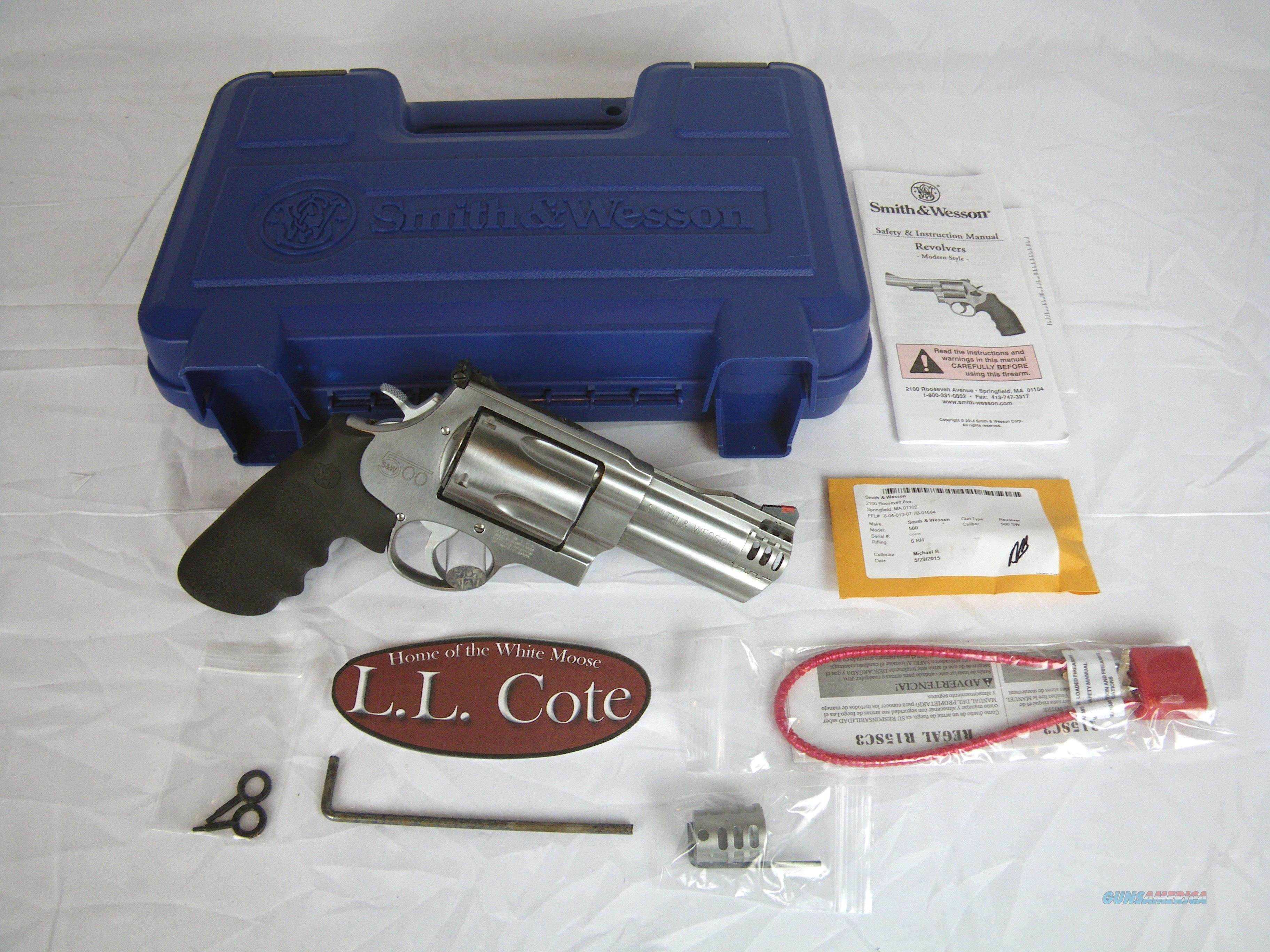 "Smith & Wesson 500 4"" Ported 500 S&W Magnum #163504  Guns > Pistols > Smith & Wesson Revolvers > Full Frame Revolver"