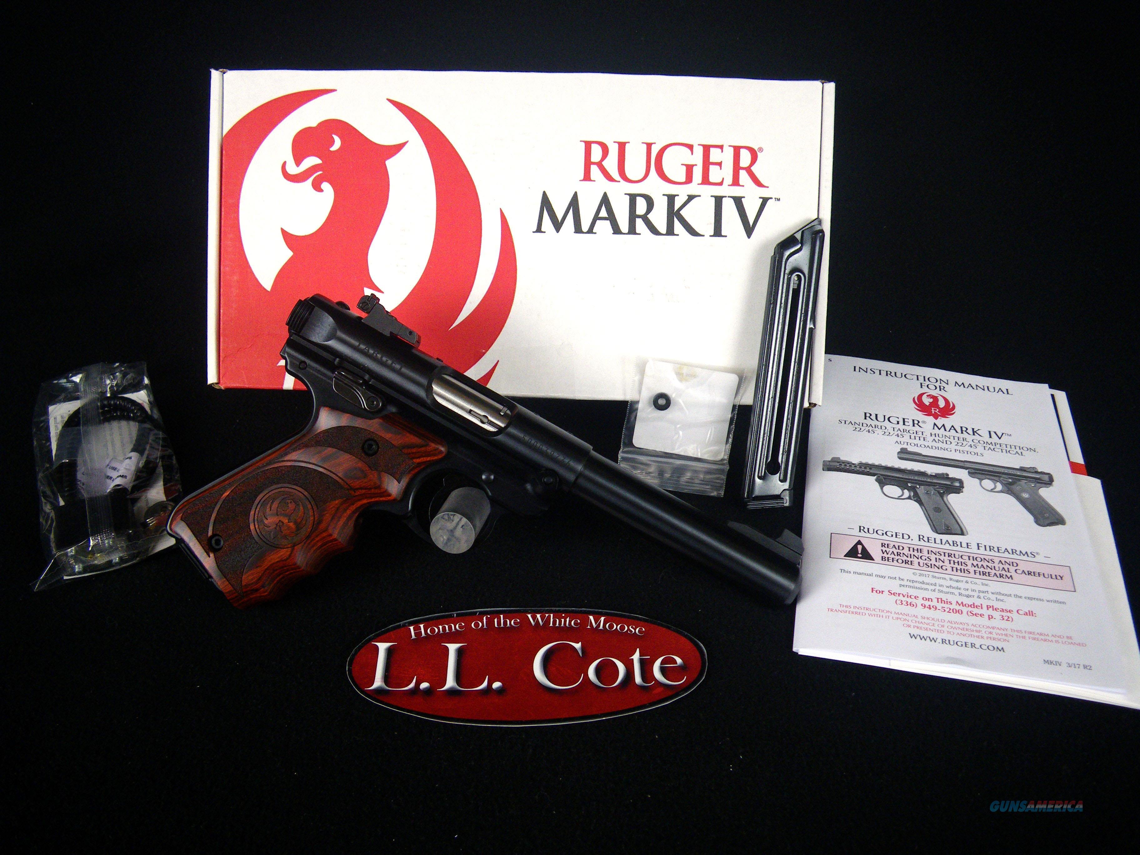 "Ruger Mark IV Target 22lr 5.5"" Bull Brl NEW 40159  Guns > Pistols > Ruger Semi-Auto Pistols > Mark I/II/III/IV Family"
