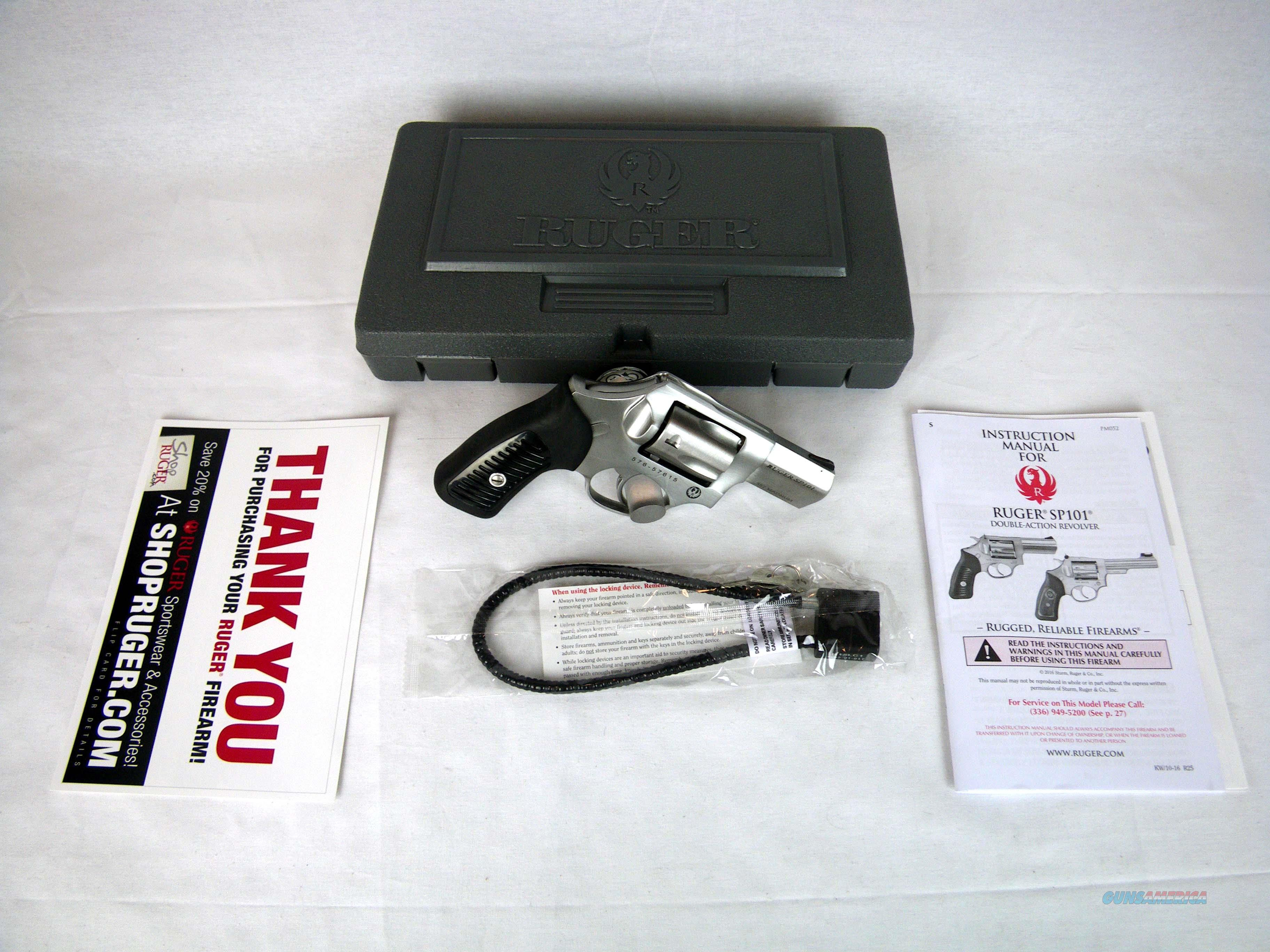 """Ruger SP101 Stainless/Synthetic 357mag 2.25"""" NEW 5720  Guns > Pistols > Ruger Double Action Revolver > SP101 Type"""