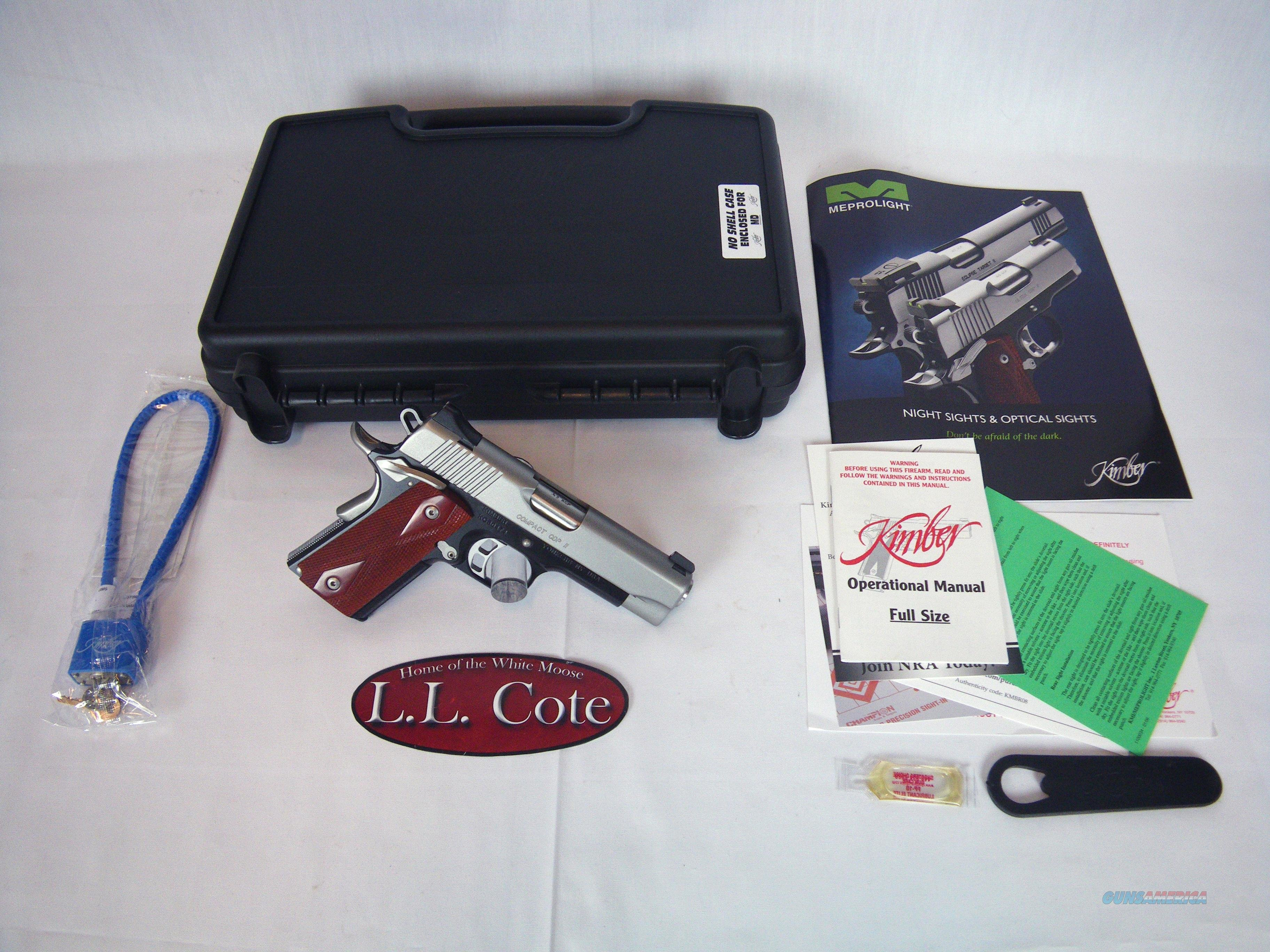 "Kimber Compact CDP II 45ACP 4"" Night Sights NIB #3200056  Guns > Pistols > Kimber of America Pistols"