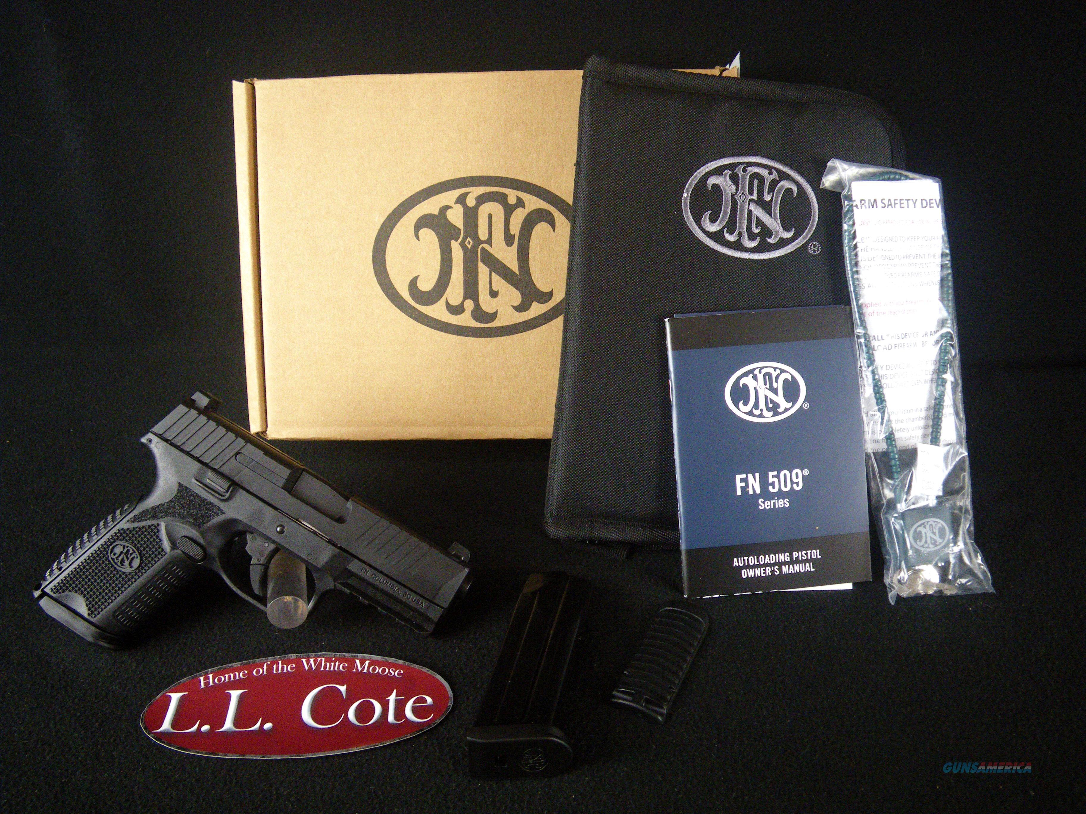 "FNH FN-509 Midsize Black 9mm 4"" NEW 66-100463  Guns > Pistols > FNH - Fabrique Nationale (FN) Pistols > FN 509"