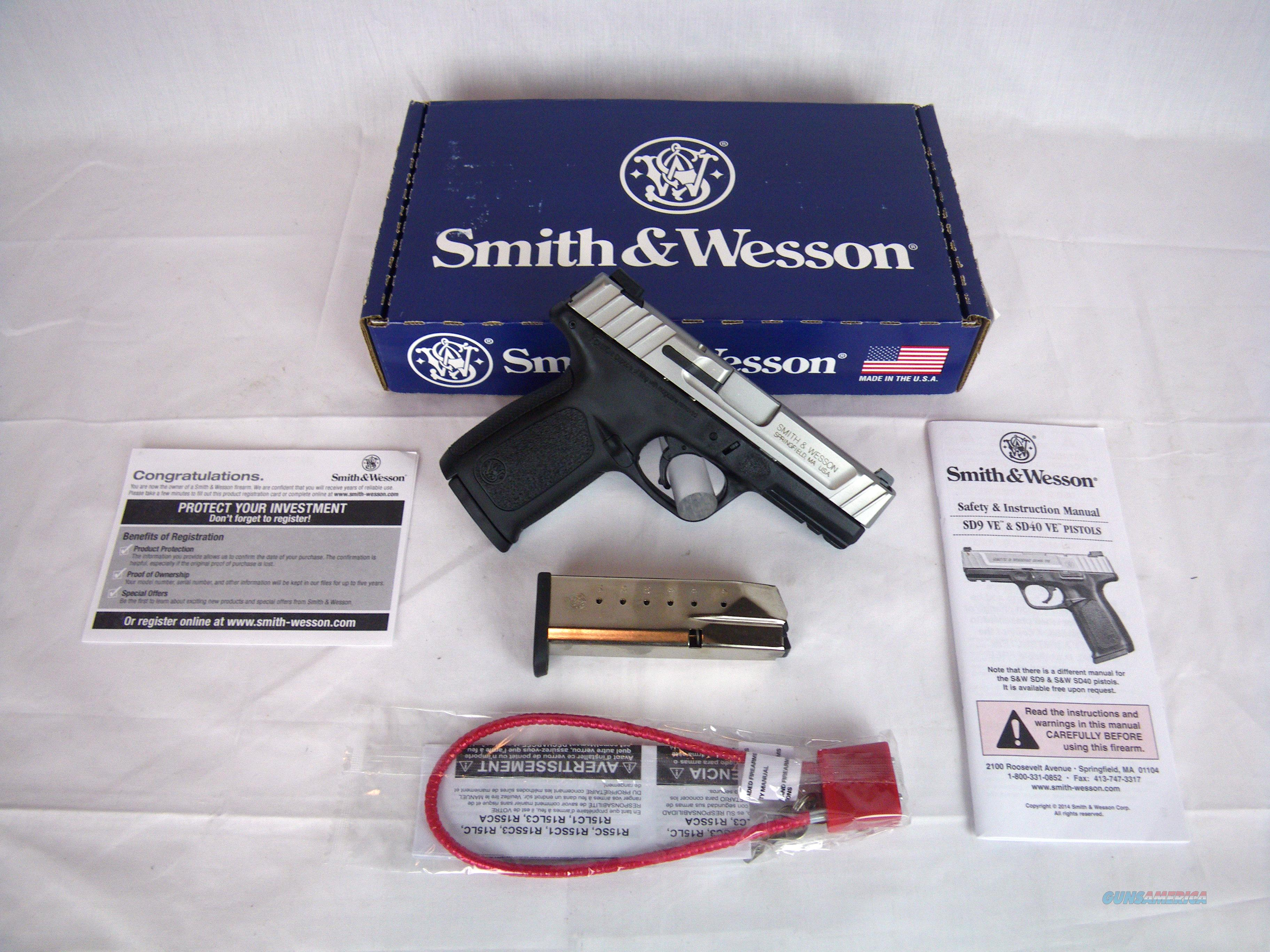 "Smith & Wesson SD40 VE 40S&W 4"" Stainless/Syn NEW #223400  Guns > Pistols > Smith & Wesson Pistols - Autos > Polymer Frame"