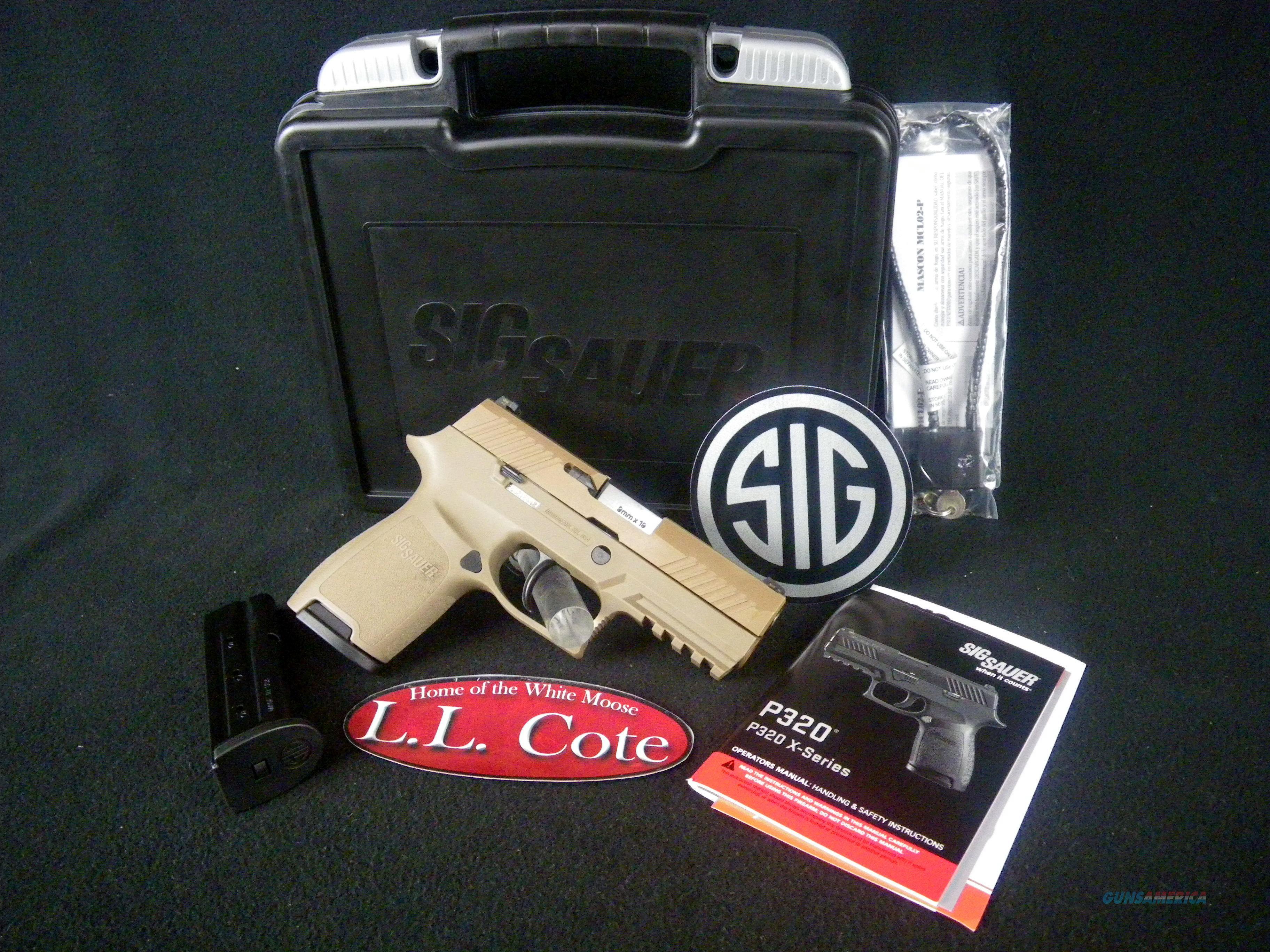 "Sig Sauer P320 FDE Compact 9mm 3.9"" NEW 320C-9-FDE  Guns > Pistols > Sig - Sauer/Sigarms Pistols > P320"
