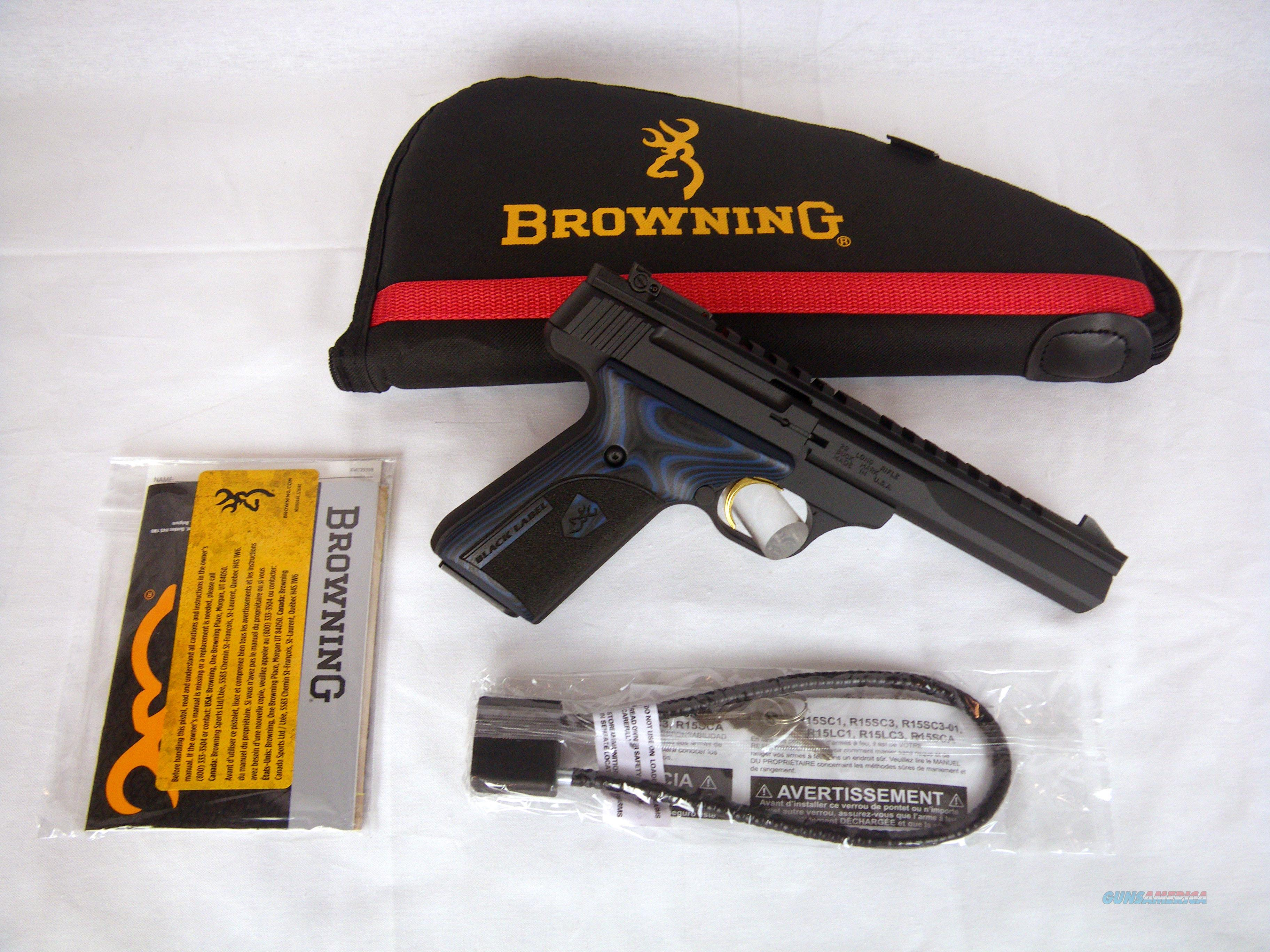 "Browning Buckmark Black Label Contour 22lr 5.5"" NEW 051535490  Guns > Pistols > Browning Pistols > Buckmark"