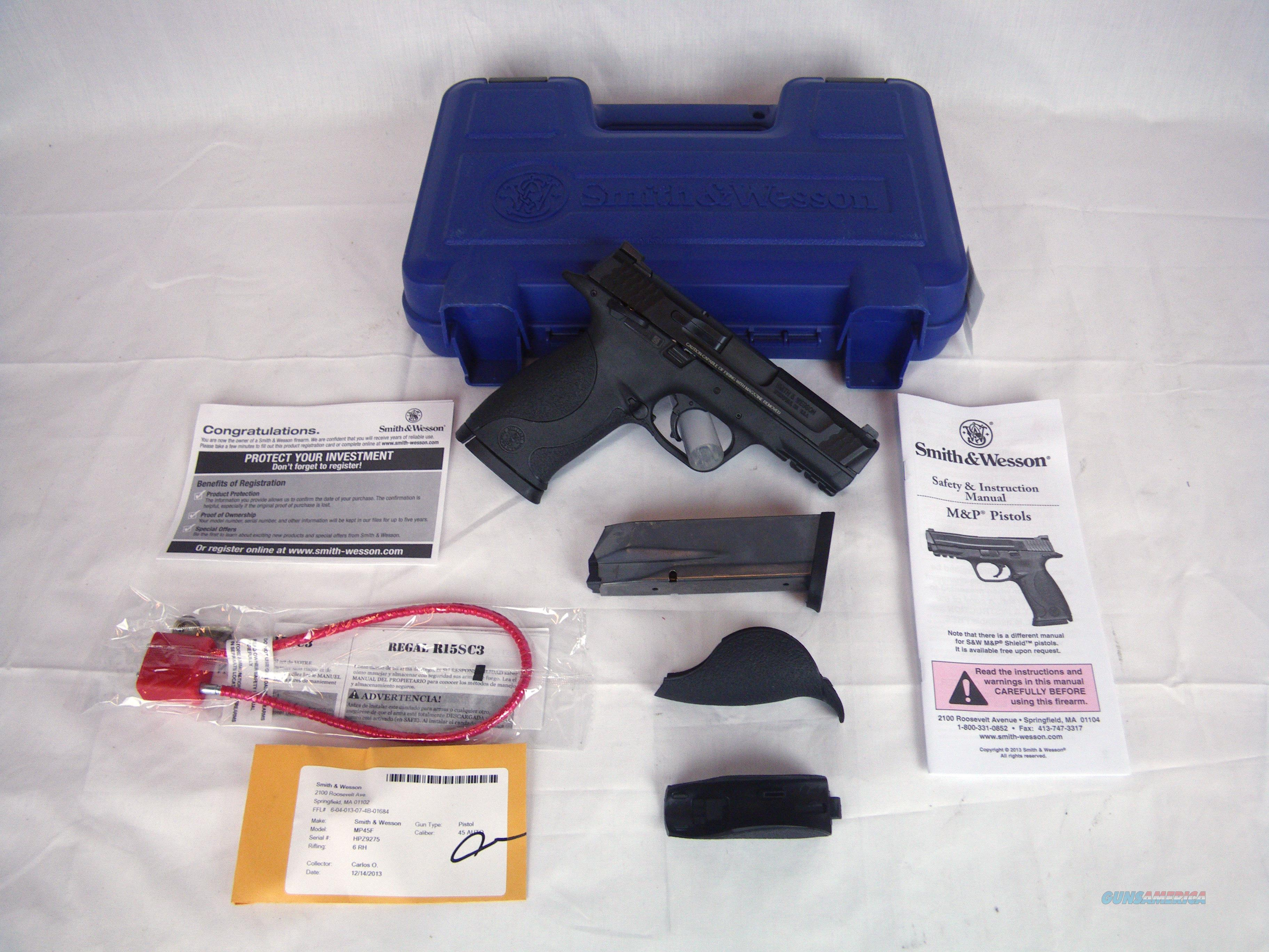 "Smith & Wesson S&W M&P45 Thumb Safety 45ACP 4"" NEW #109107  Guns > Pistols > Smith & Wesson Pistols - Autos > Polymer Frame"