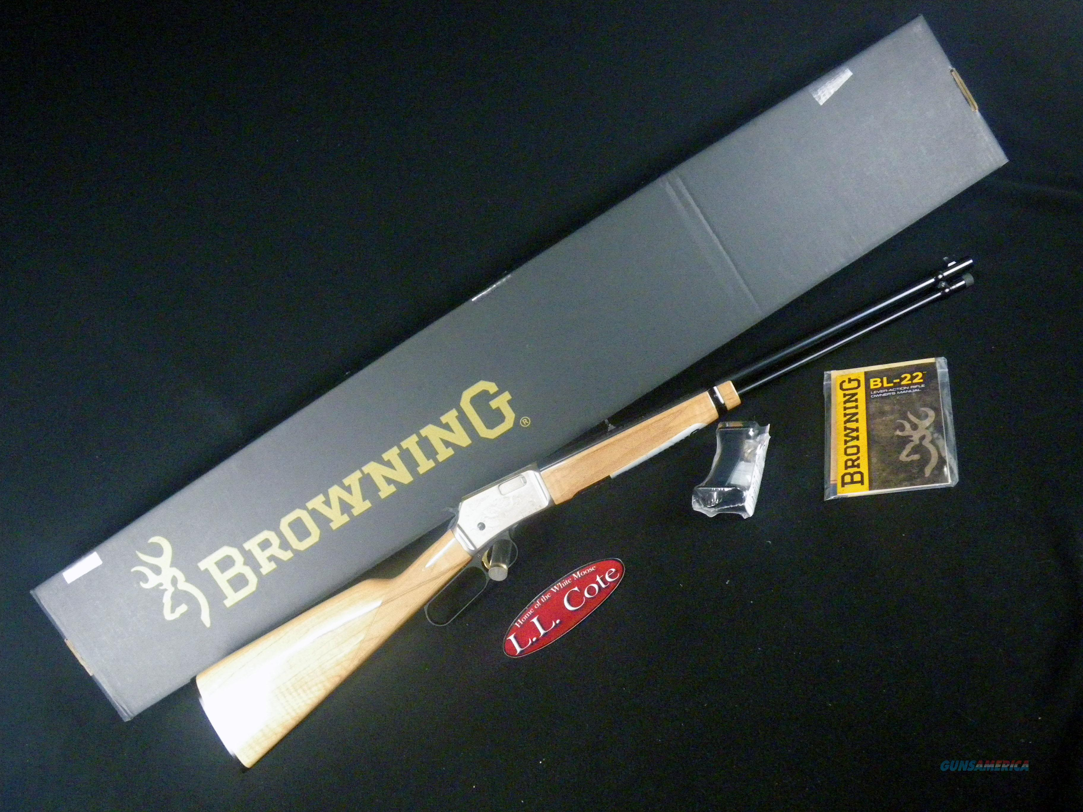 """Browning BL-22 Grade II Maple AAA 22lr 20"""" NEW 024127103  Guns > Rifles > Browning Rifles > Lever Action"""