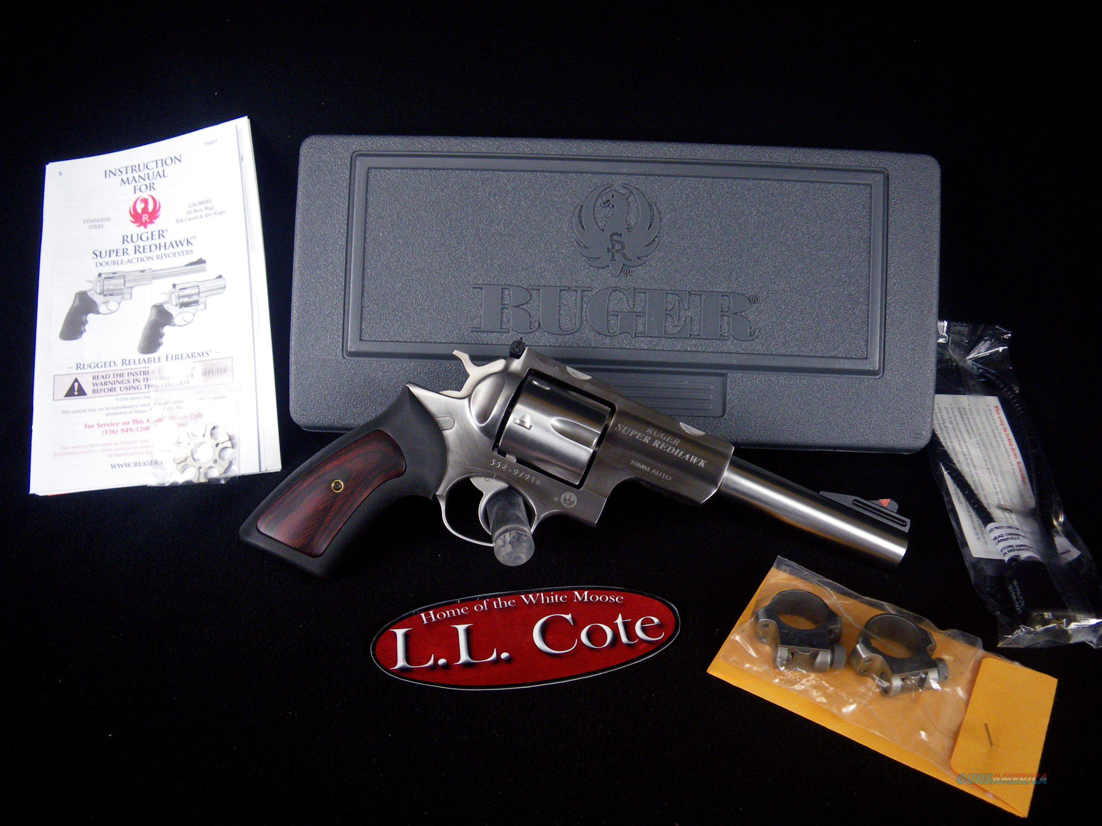 """Ruger Super Redhawk 10mm 6.5"""" Stainless NEW 5524  Guns > Pistols > Ruger Double Action Revolver > Redhawk Type"""