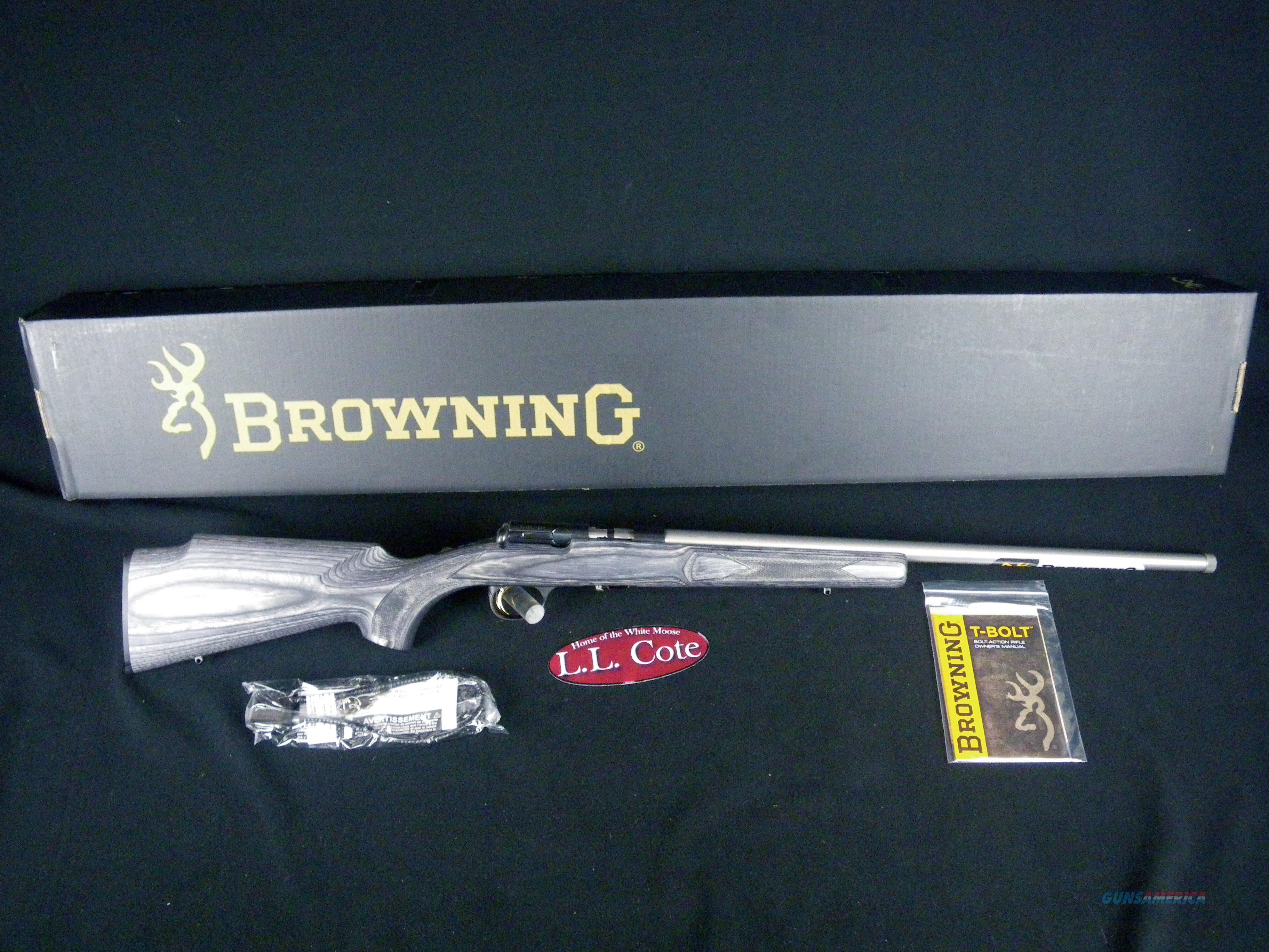 "Browning T-Bolt Target/Varmint SS 22lr 22"" NEW 025236202  Guns > Rifles > Browning Rifles > Bolt Action > Hunting > Blue"