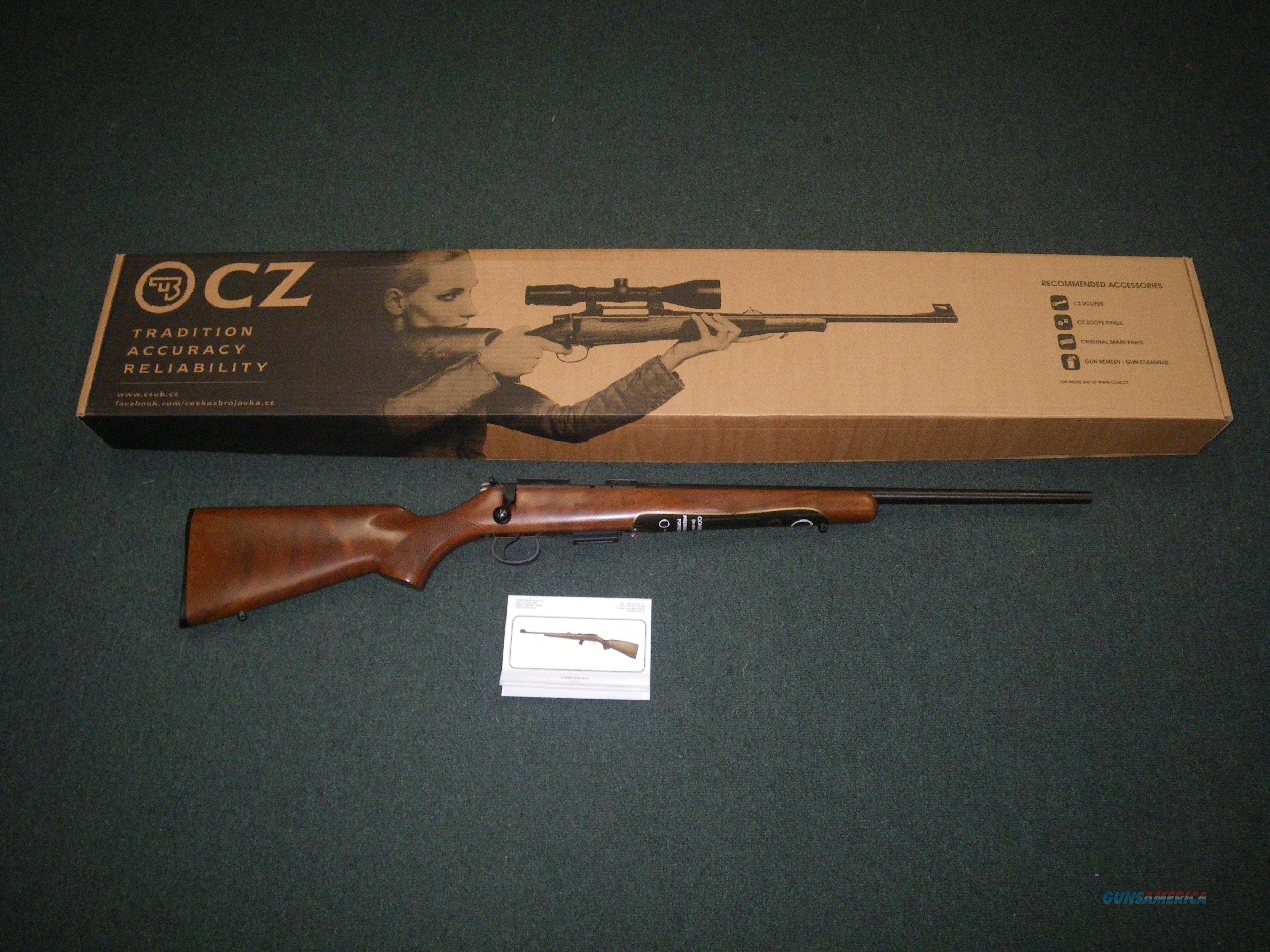 "CZ 455 American Blue/Wood 22lr 20.5"" NEW 02110  Guns > Rifles > CZ Rifles"