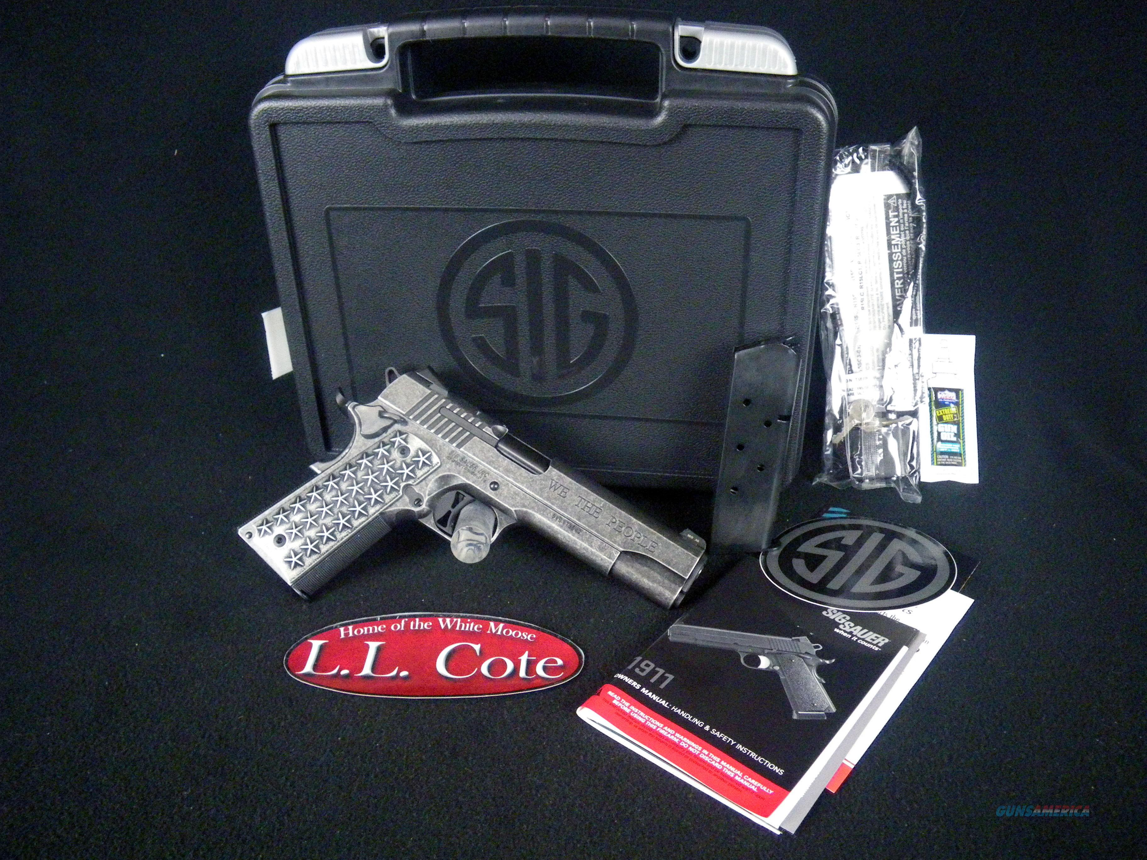 """Sig Sauer 1911 We The People Full Size 45ACP 5"""" NEW 1911T-45-WTP  Guns > Pistols > Sig - Sauer/Sigarms Pistols > 1911"""