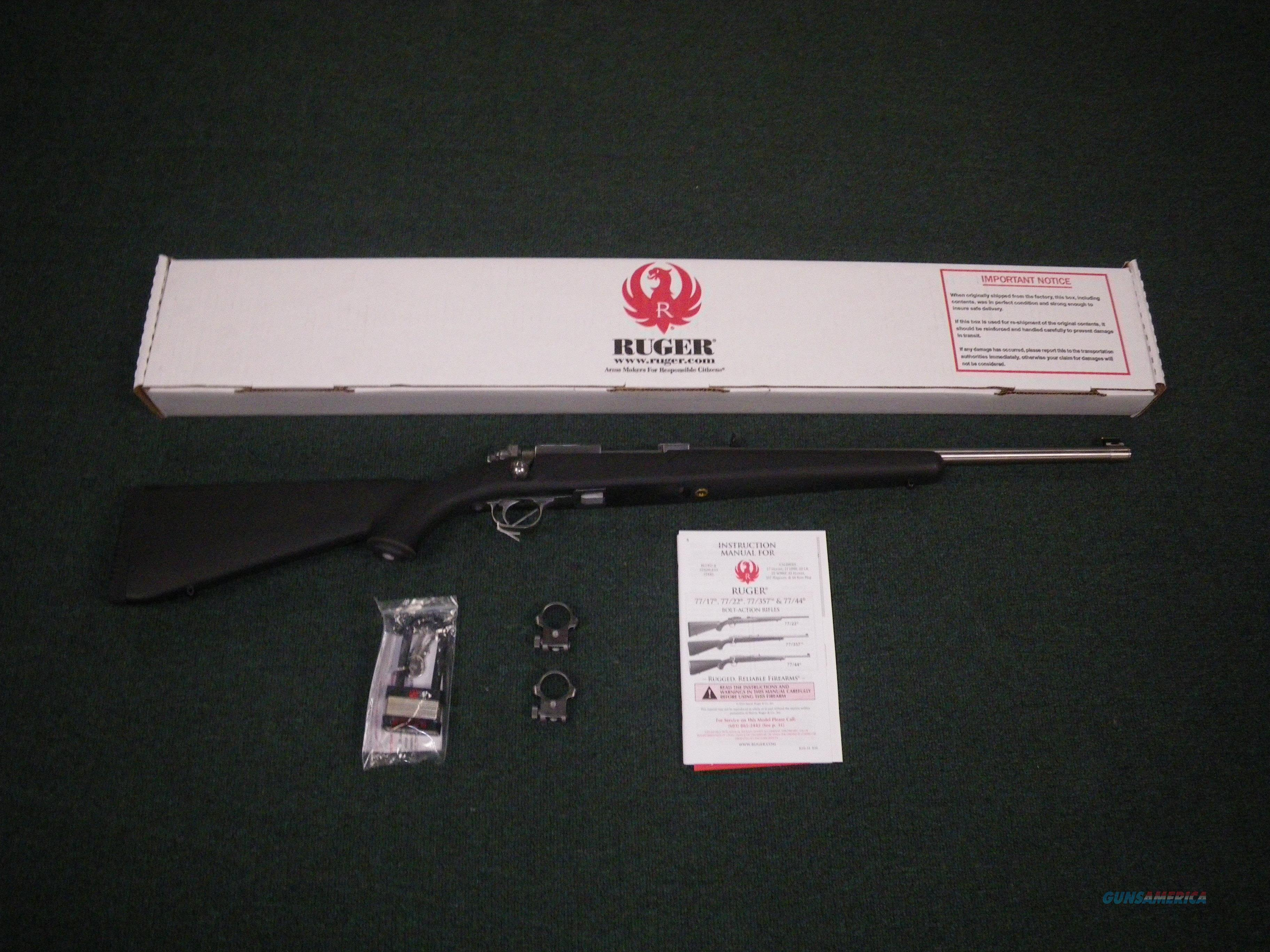 "Ruger 77/357 M77 Stainless Synthetic 357 Mag 18.5"" #7405  Guns > Rifles > Ruger Rifles > Model 77"