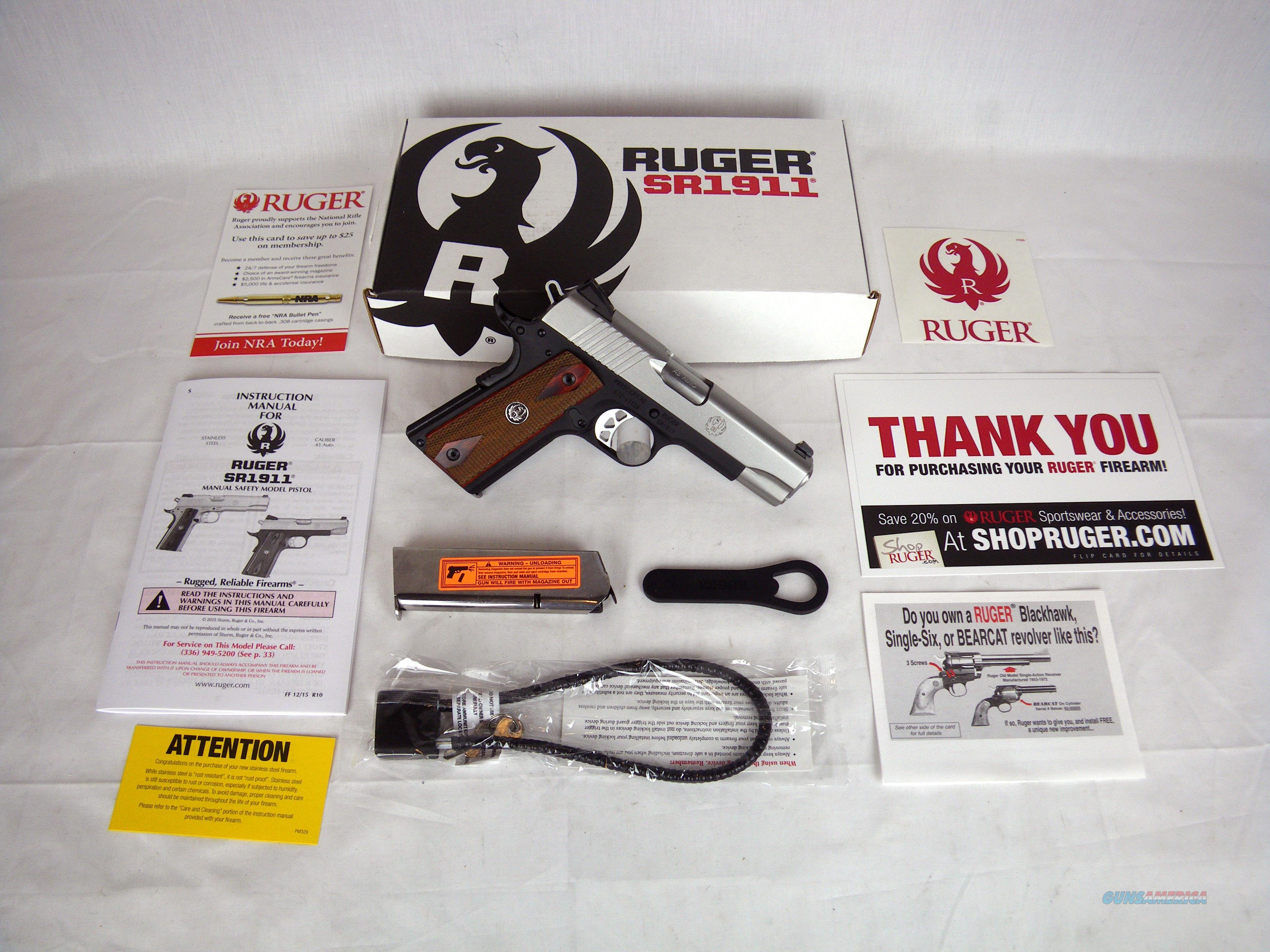 """Ruger SR1911 45ACP 4.25"""" NEW 2-Tone Aluminum #6711  Guns > Pistols > Ruger Semi-Auto Pistols > 1911"""