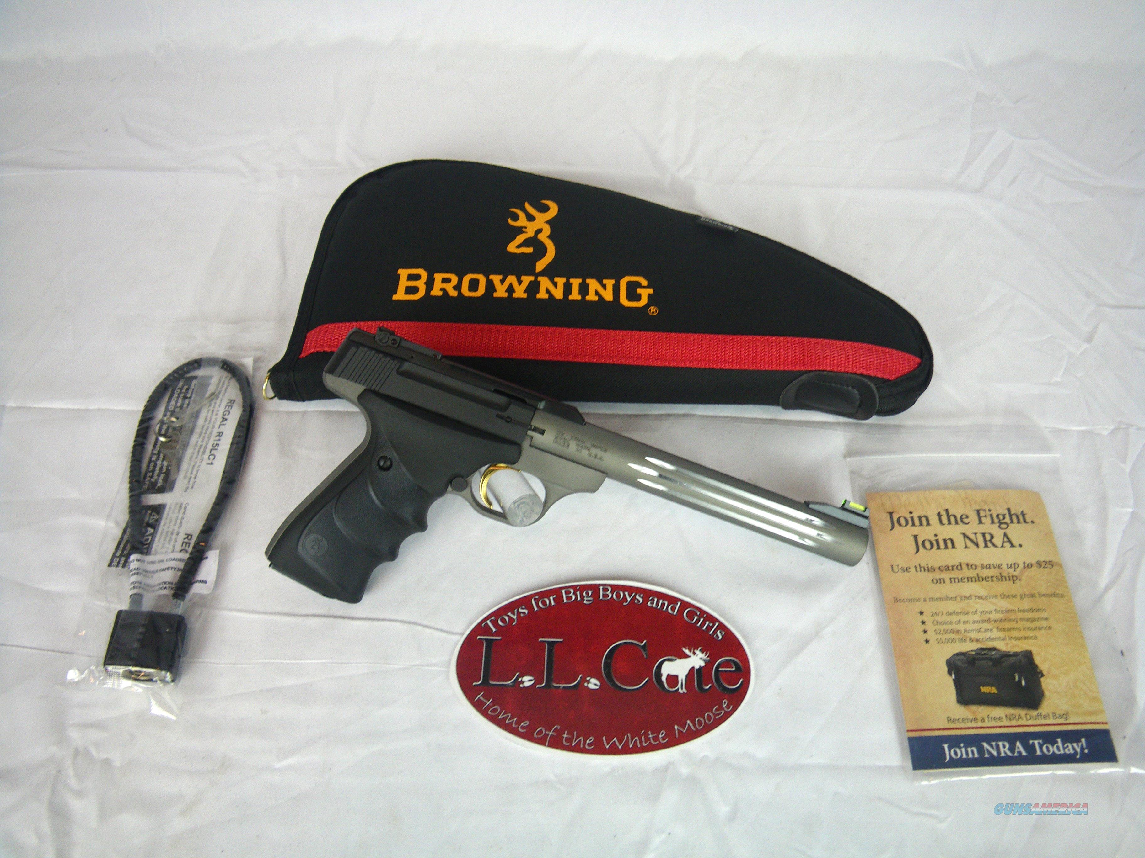 Browning Buckmark Lite Gray URX 22lr 7.5 #051517490  Guns > Pistols > Browning Pistols > Buckmark