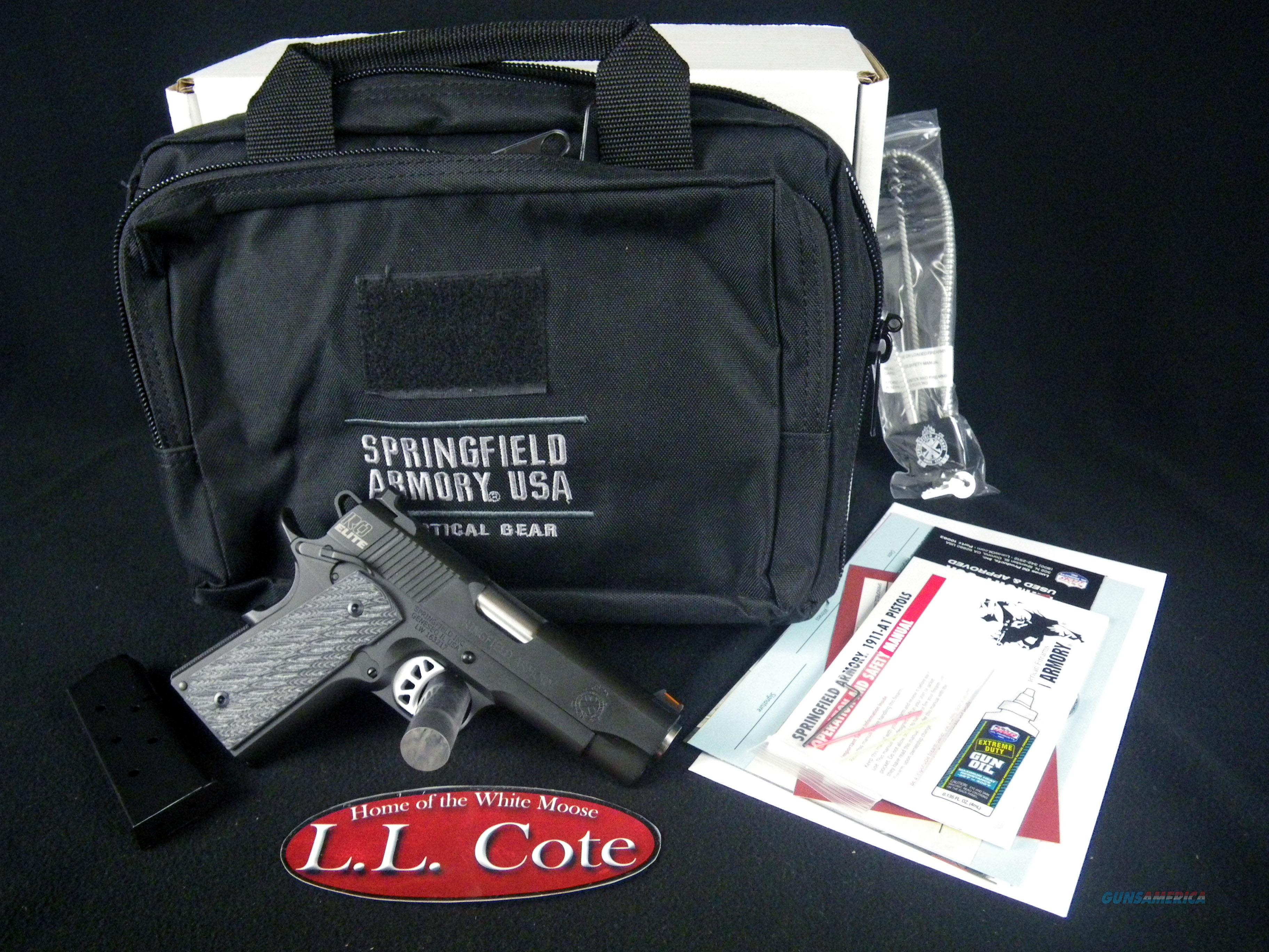 "Springfield 1911 Range Officer Elite Compact 45ACP 4"" NEW PI9126E  Guns > Pistols > Springfield Armory Pistols > 1911 Type"