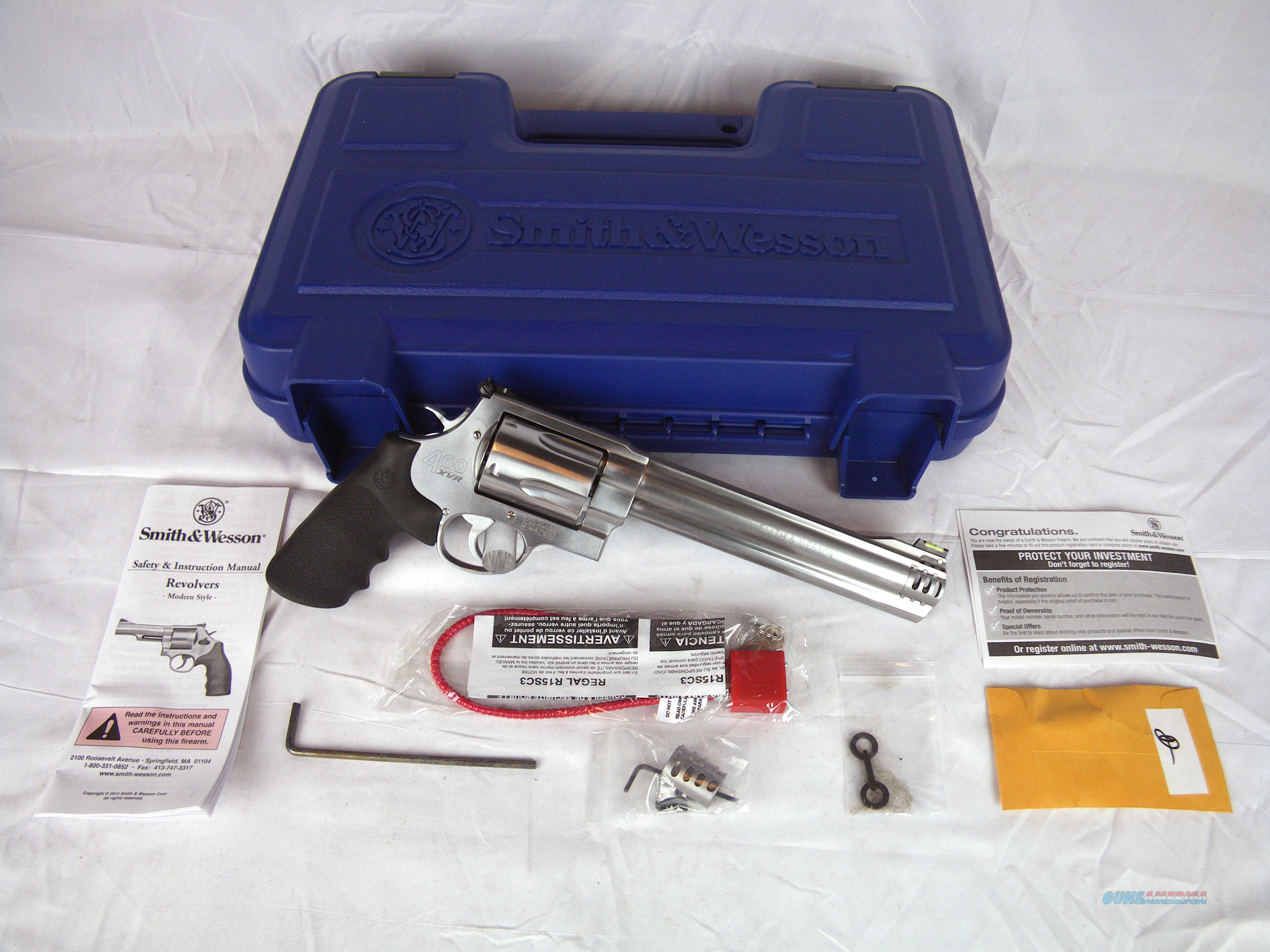 """Smith & Wesson 460XVR 460 S&W 8.38"""" Stainless NEW #163460  Guns > Pistols > Smith & Wesson Revolvers > Full Frame Revolver"""