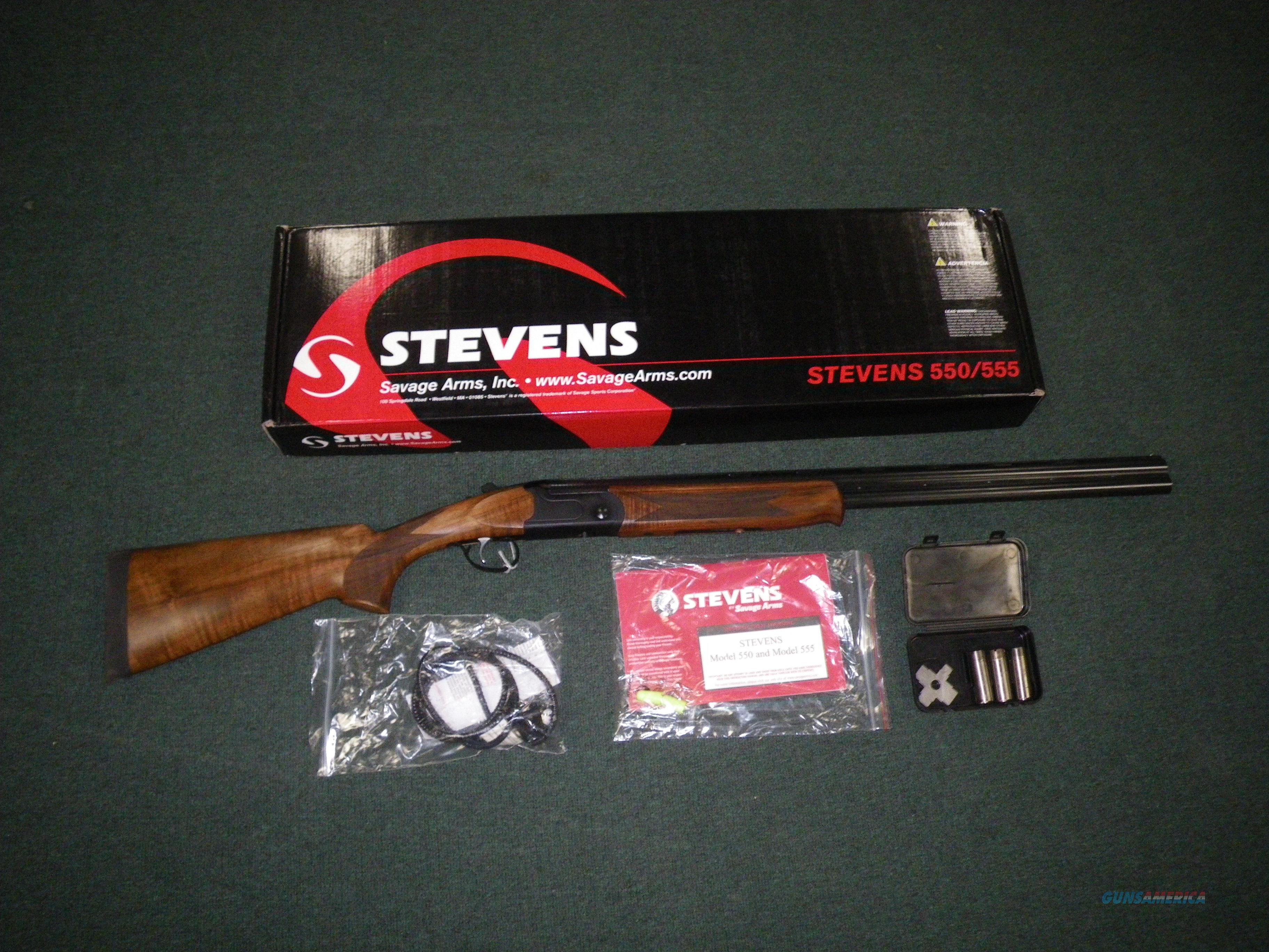 "Savage Stevens 555 Over/Under 12ga 28"" NEW #22165  Guns > Shotguns > Savage Shotguns"
