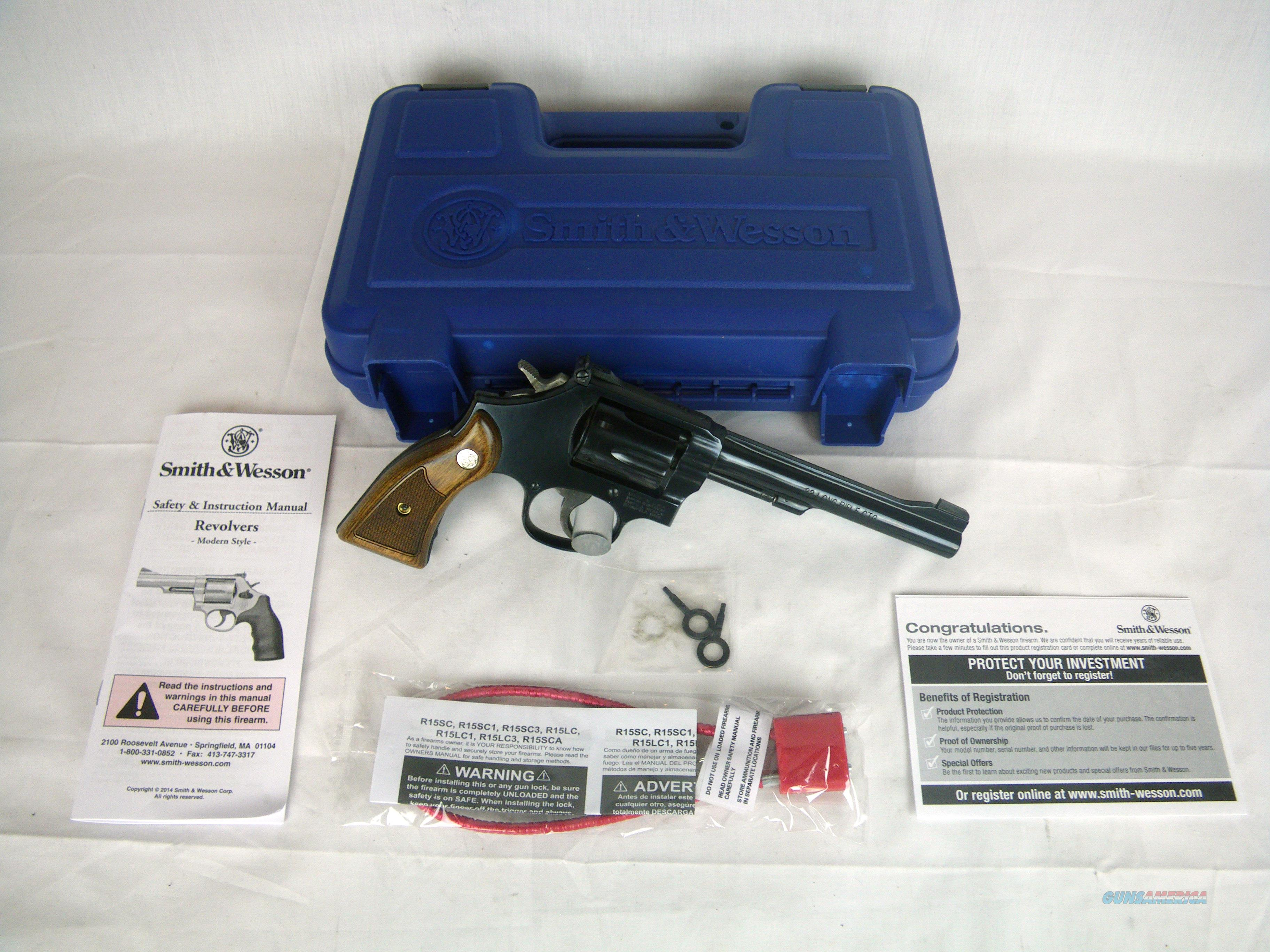 "Smith & Wesson Model 17 Masterpiece 22lr 6"" NEW #150477  Guns > Pistols > Smith & Wesson Revolvers > Med. Frame ( K/L )"