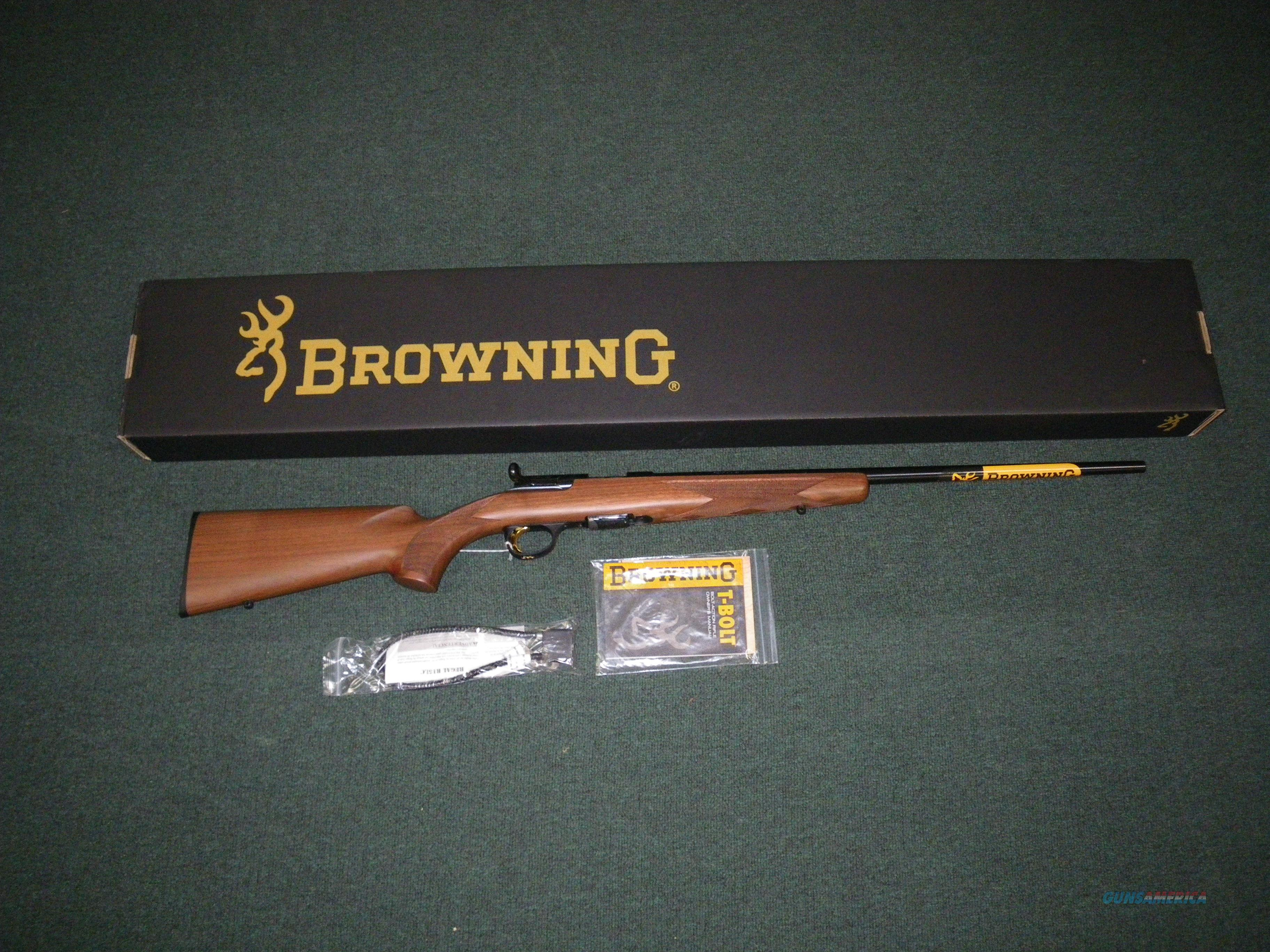"Browning T-Bolt Sporter Wood 17 HMR 22"" #025175270  Guns > Rifles > Browning Rifles > Bolt Action > Hunting > Blue"